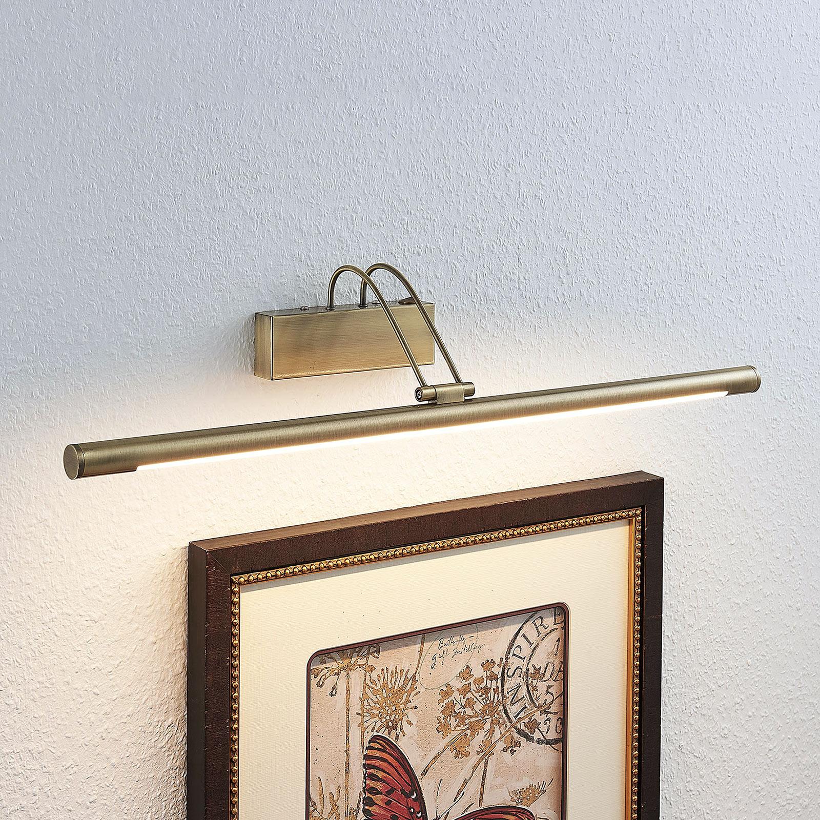 Lámpara LED para cuadros Mailine, latón antiguo