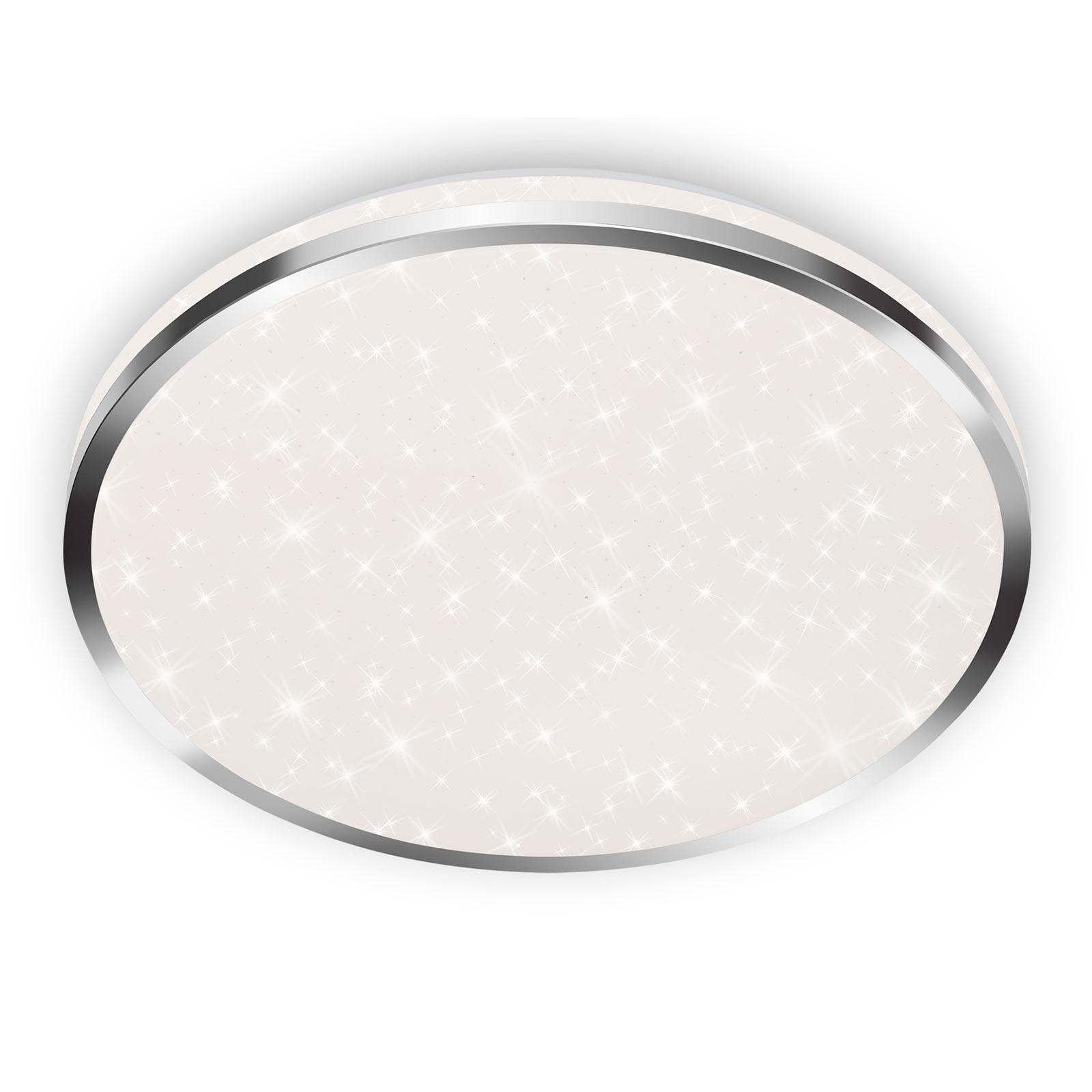 LED-taklampe 3403 IP44 stjernedekor, Ø 33 cm