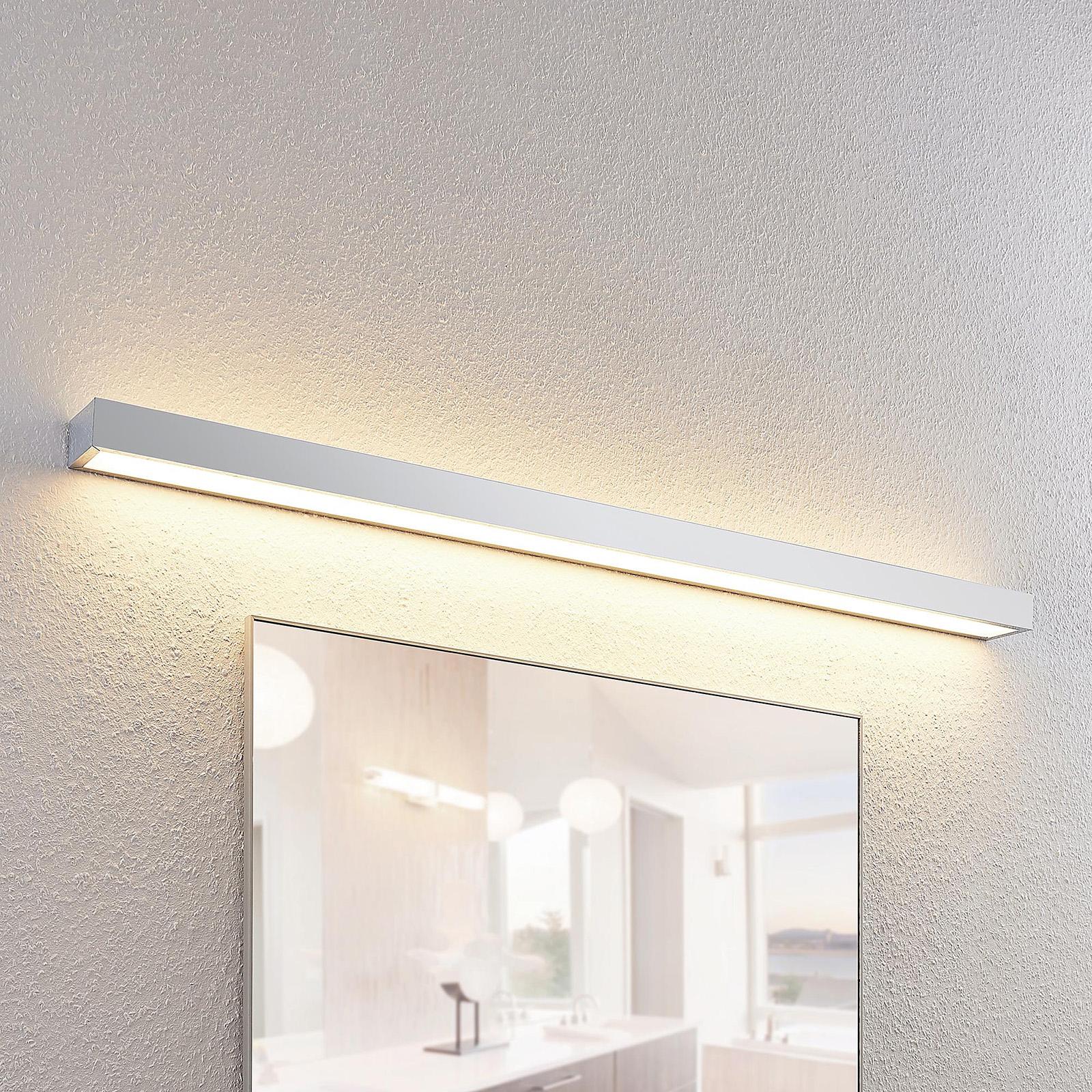 Lindby Layan LED-væglampe til badet, krom, 120 cm
