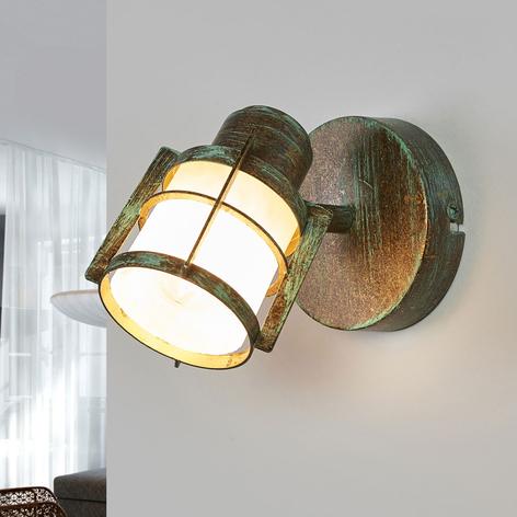 Giorgi - wandlamp in kopergroene look