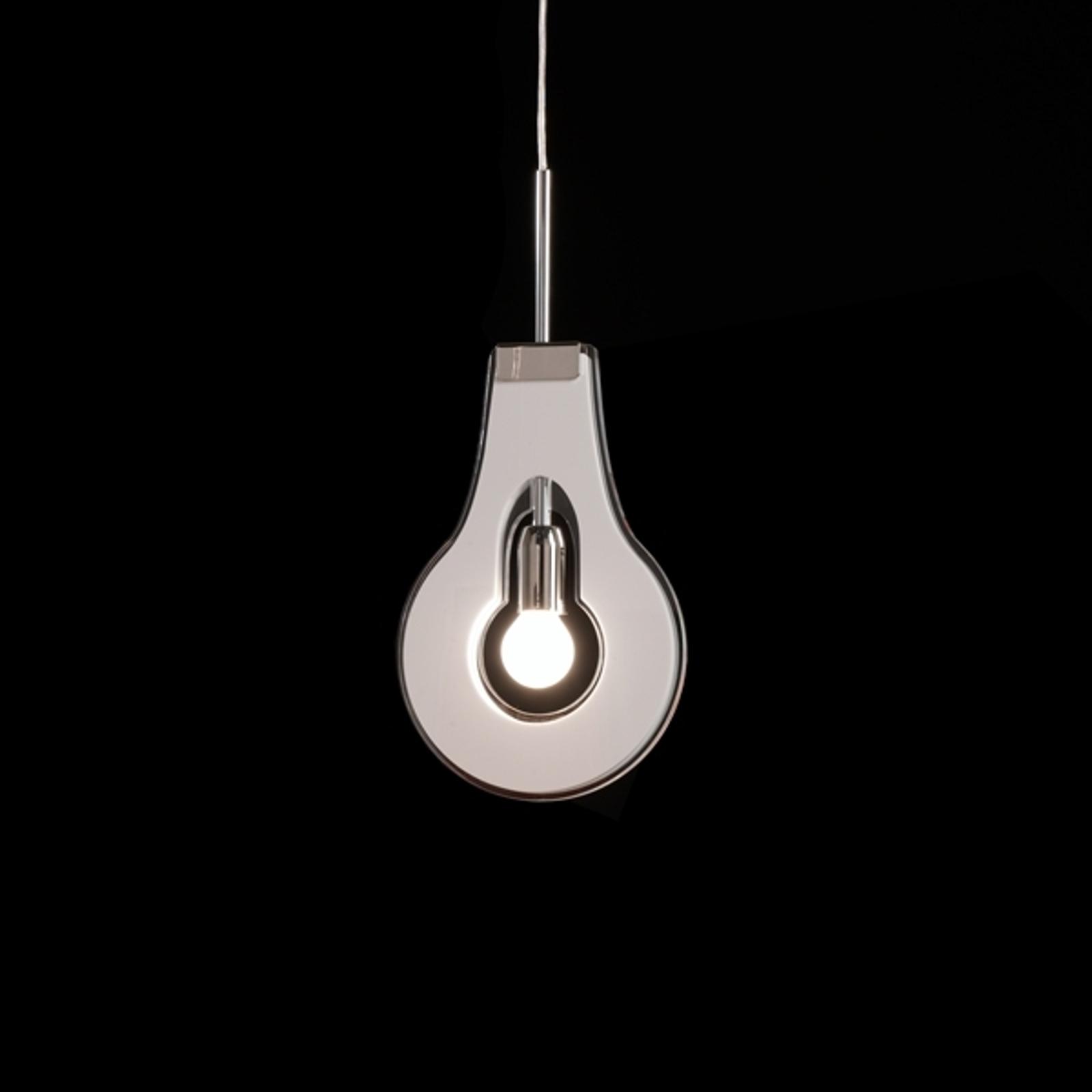 Originale lampada a sospensione Flat, bianca