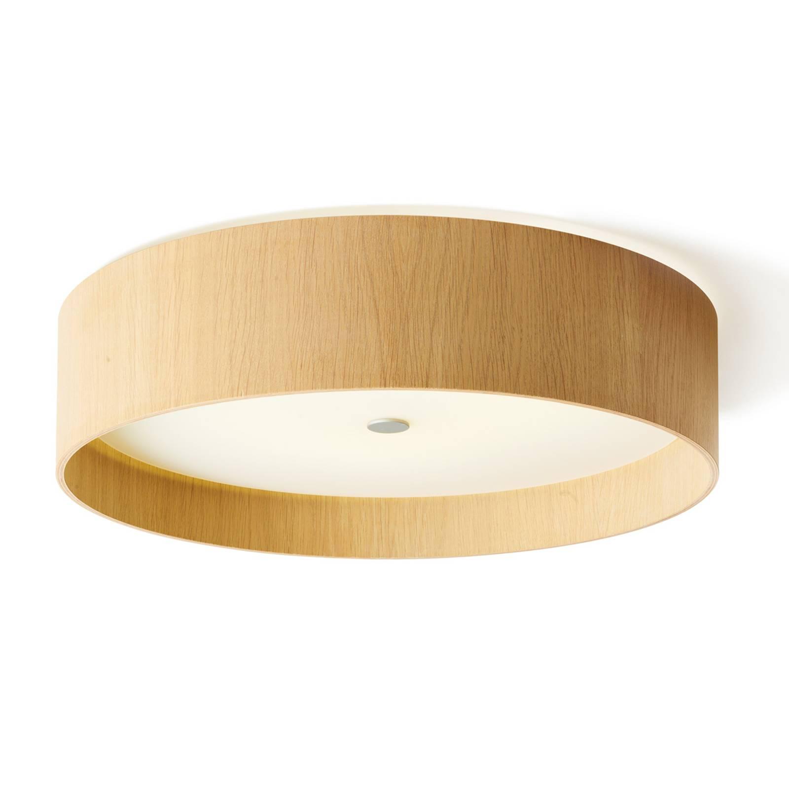 Runde LED-Deckenleuchte Lara wood, Weißeiche 55 cm