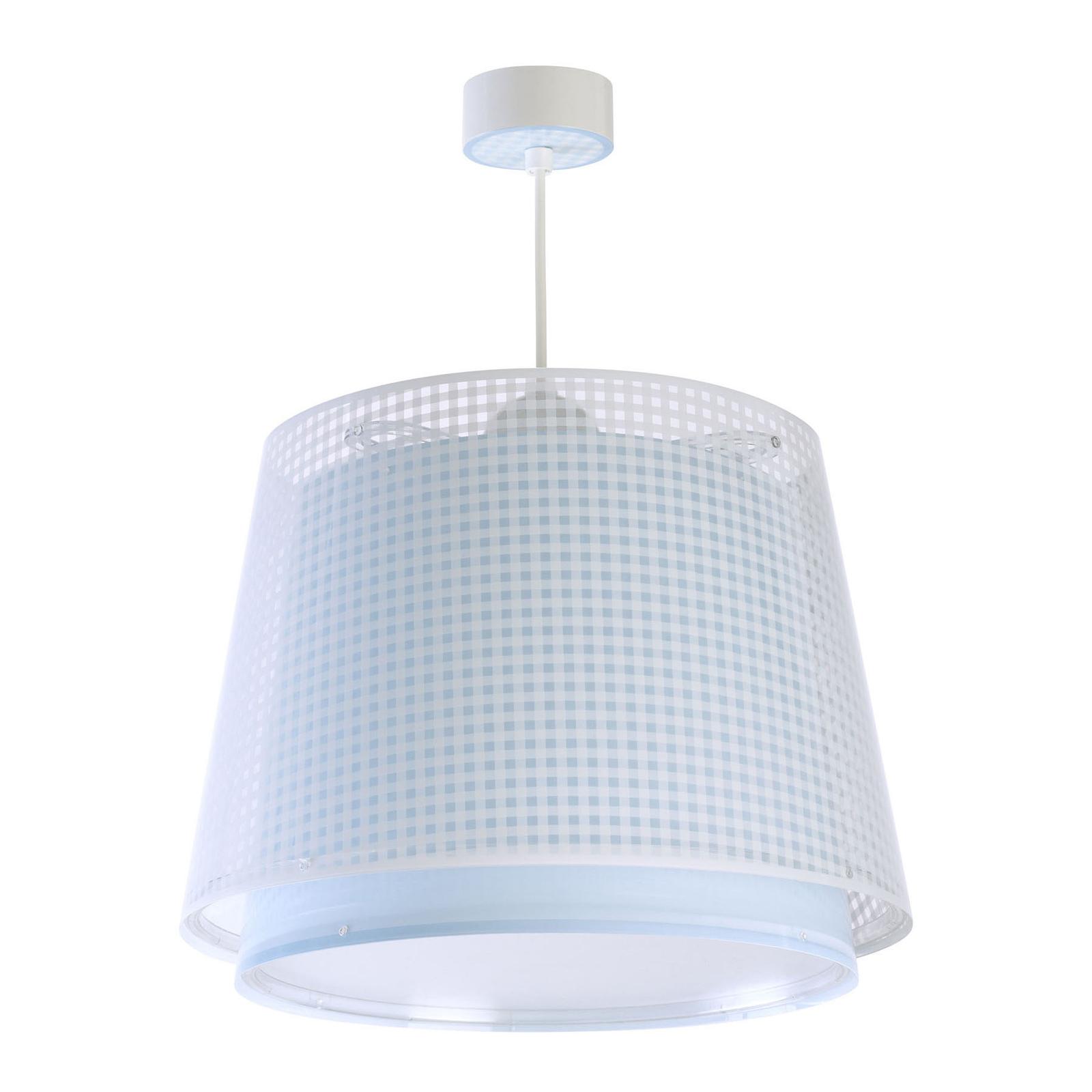 Lampa wisząca dziecięca Vichy, 1-pkt., niebieska