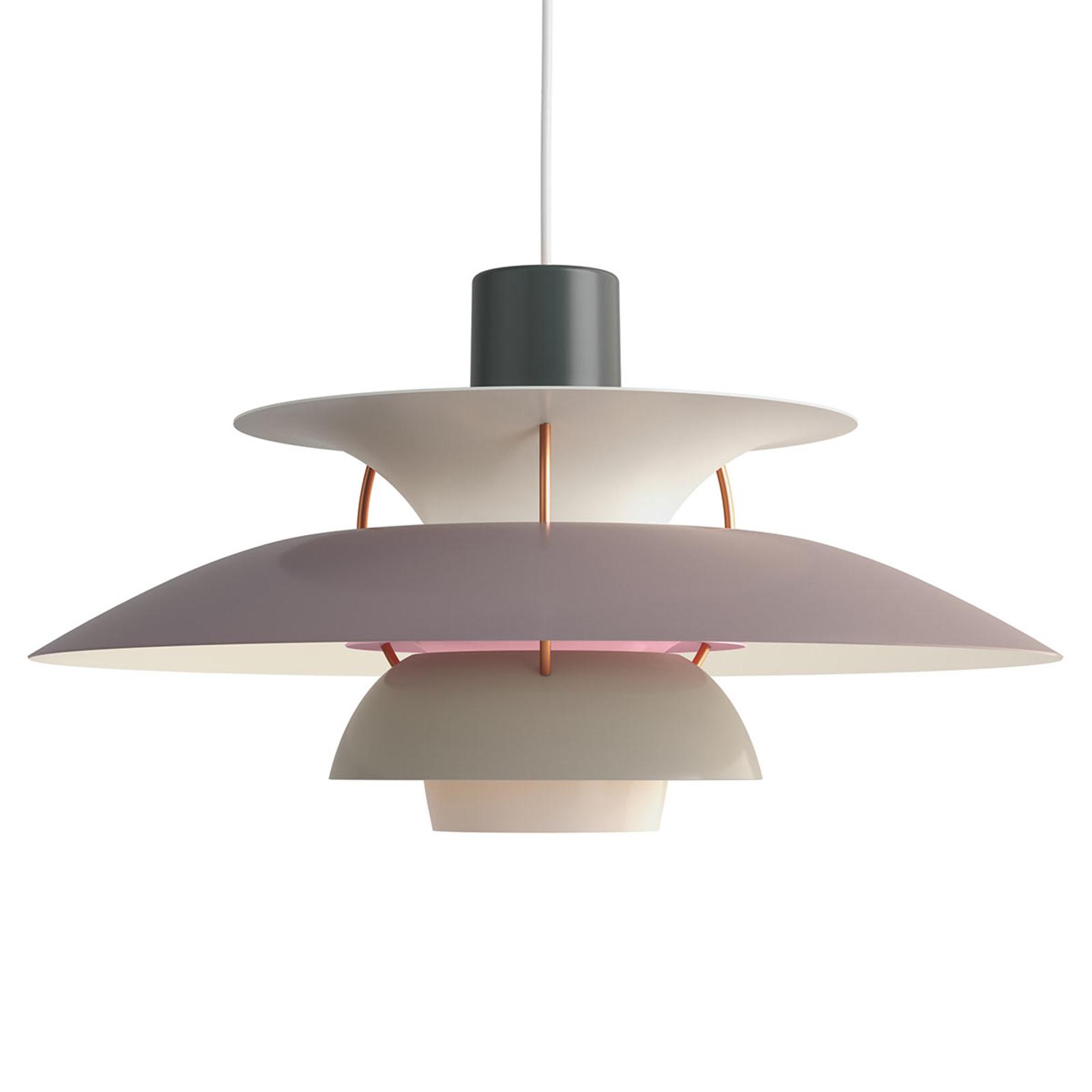 Deense designer hanglamp PH 5, grijs