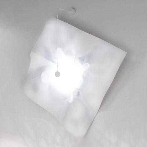 Designer LED væglampe Crash 100 i hvid