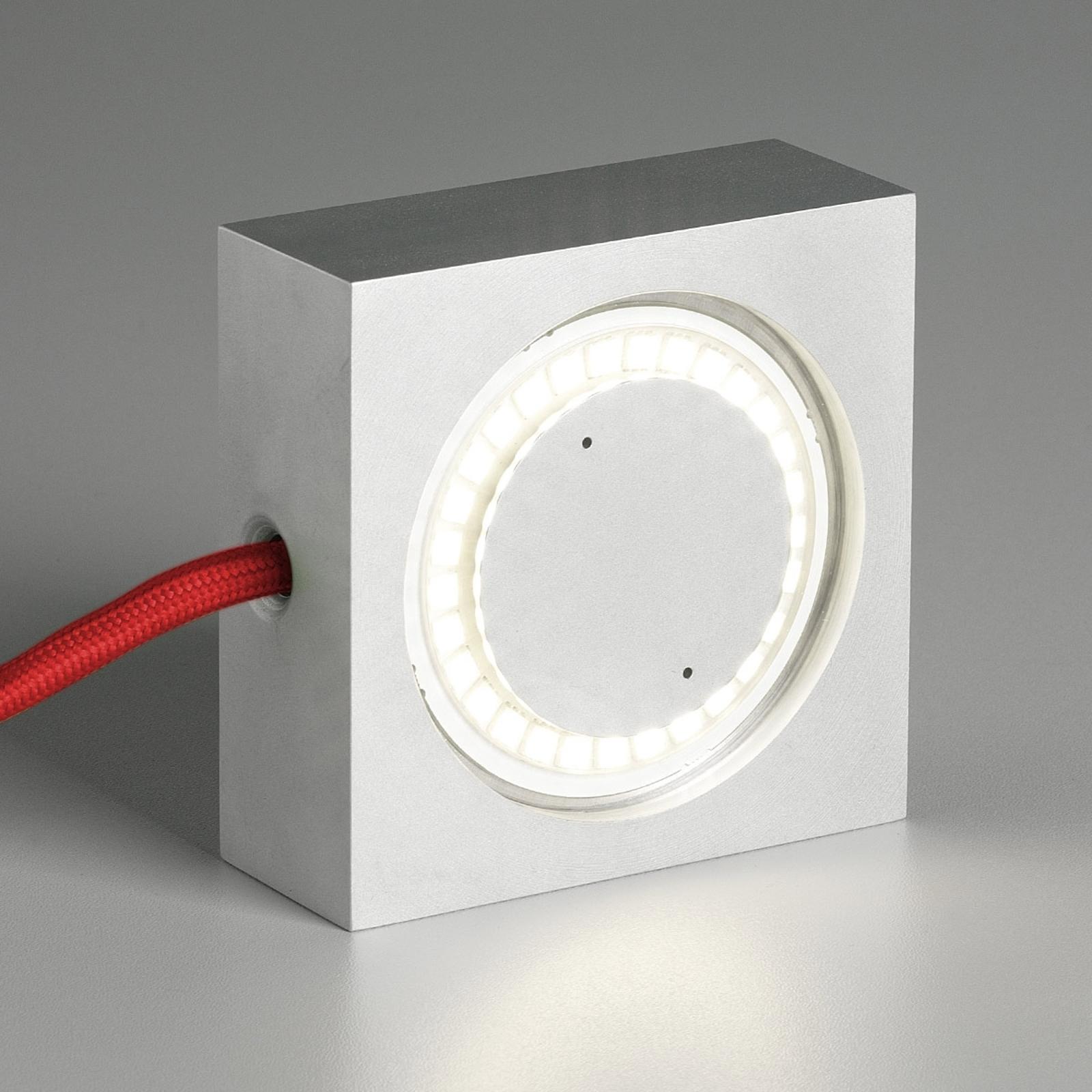 TECNOLUMEN Square LED-Tischleuchte rote Zuleitung