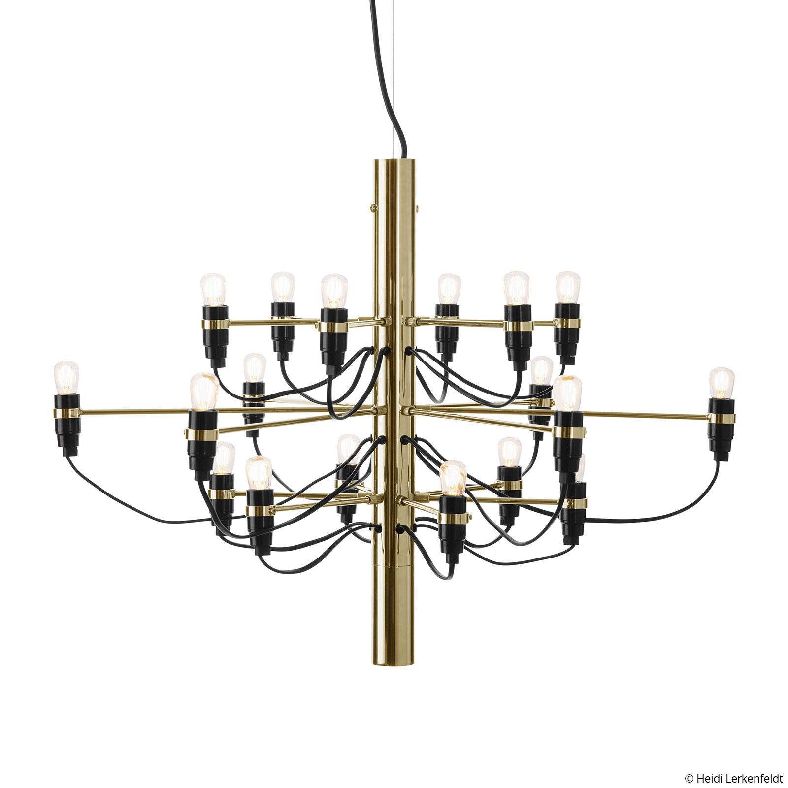 FLOS 2097/18 Kronleuchter LED gefrostet, messing