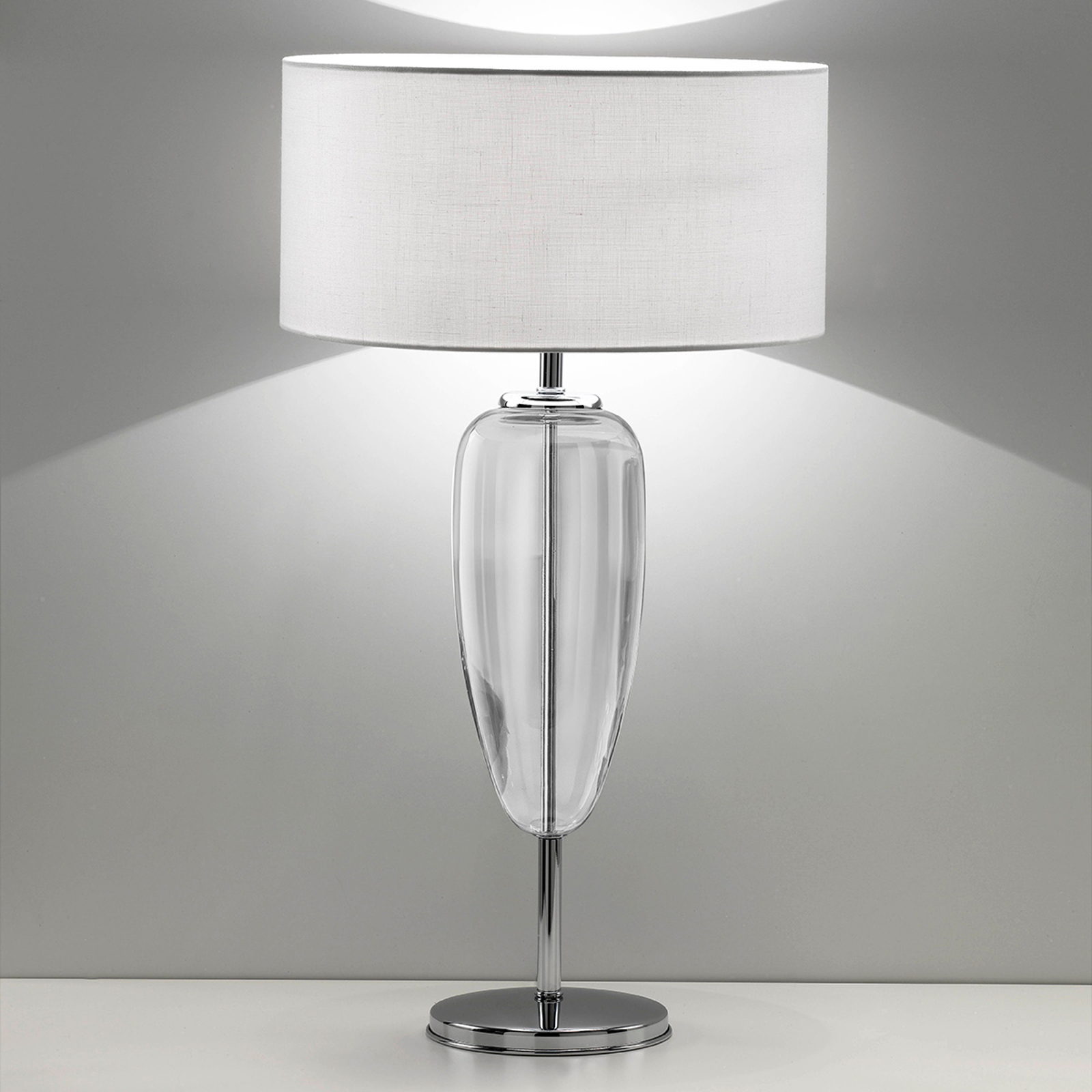 Tafellamp Ogiva 82 cm helder glaselement