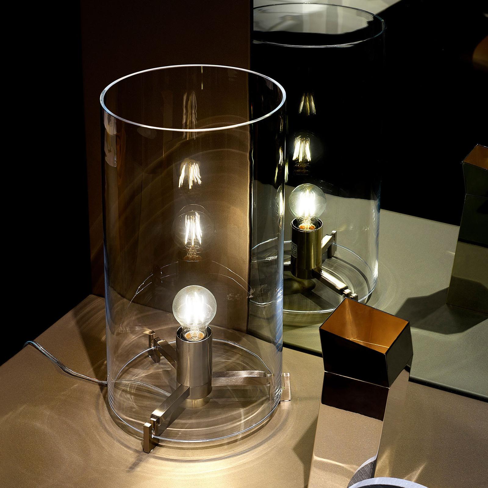 Prandina CPL T1 tavolo vetro cromato trasparente
