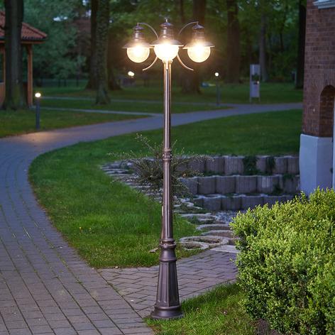 3-lichts lantaarnpaal Eddie, IP44