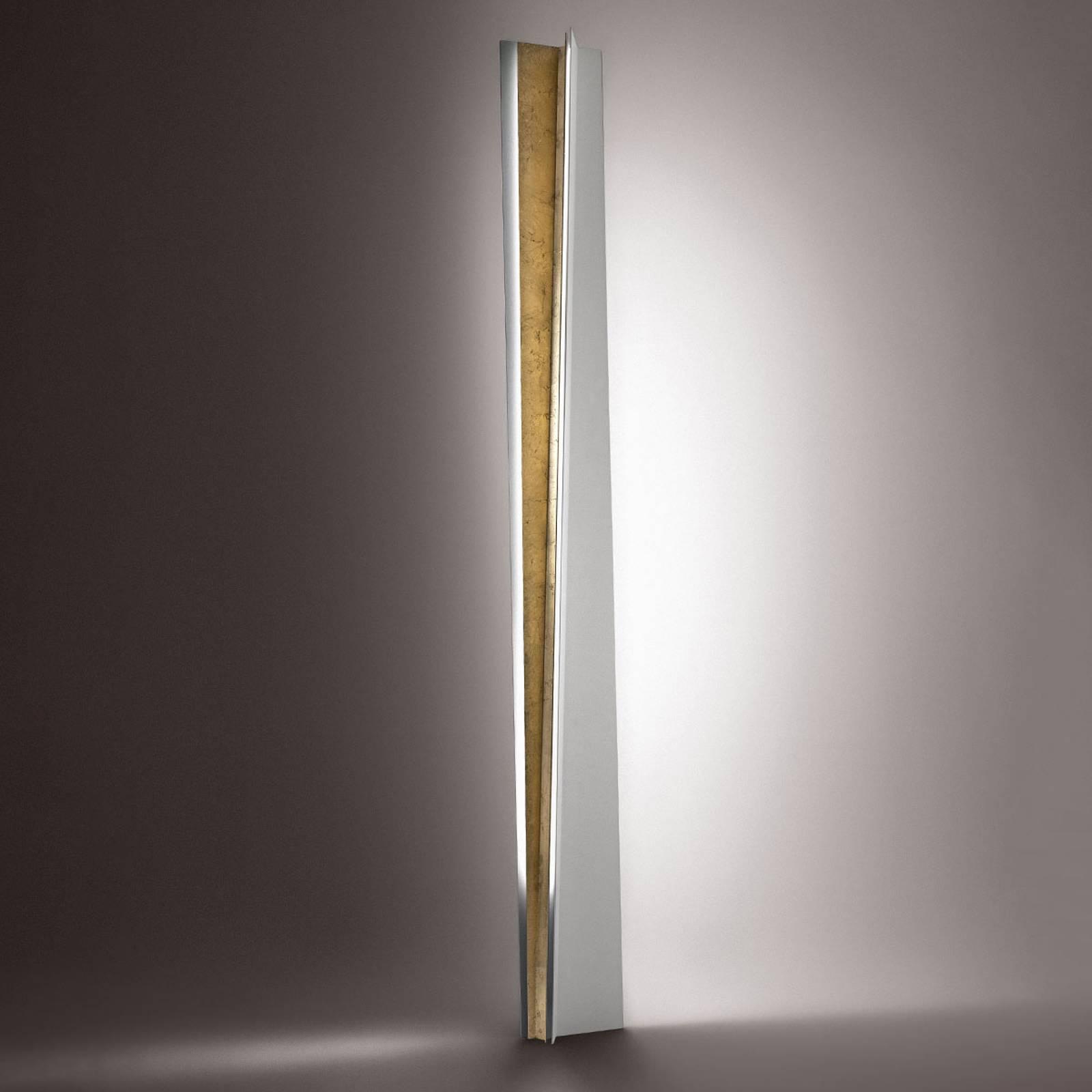 ICONE Reverse – lampa stojąca LED, złoto płatkowe
