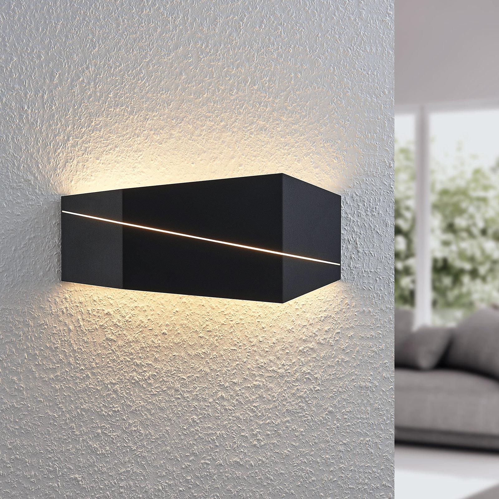 LED-seinävalaisin Nikolae, 40 cm, musta