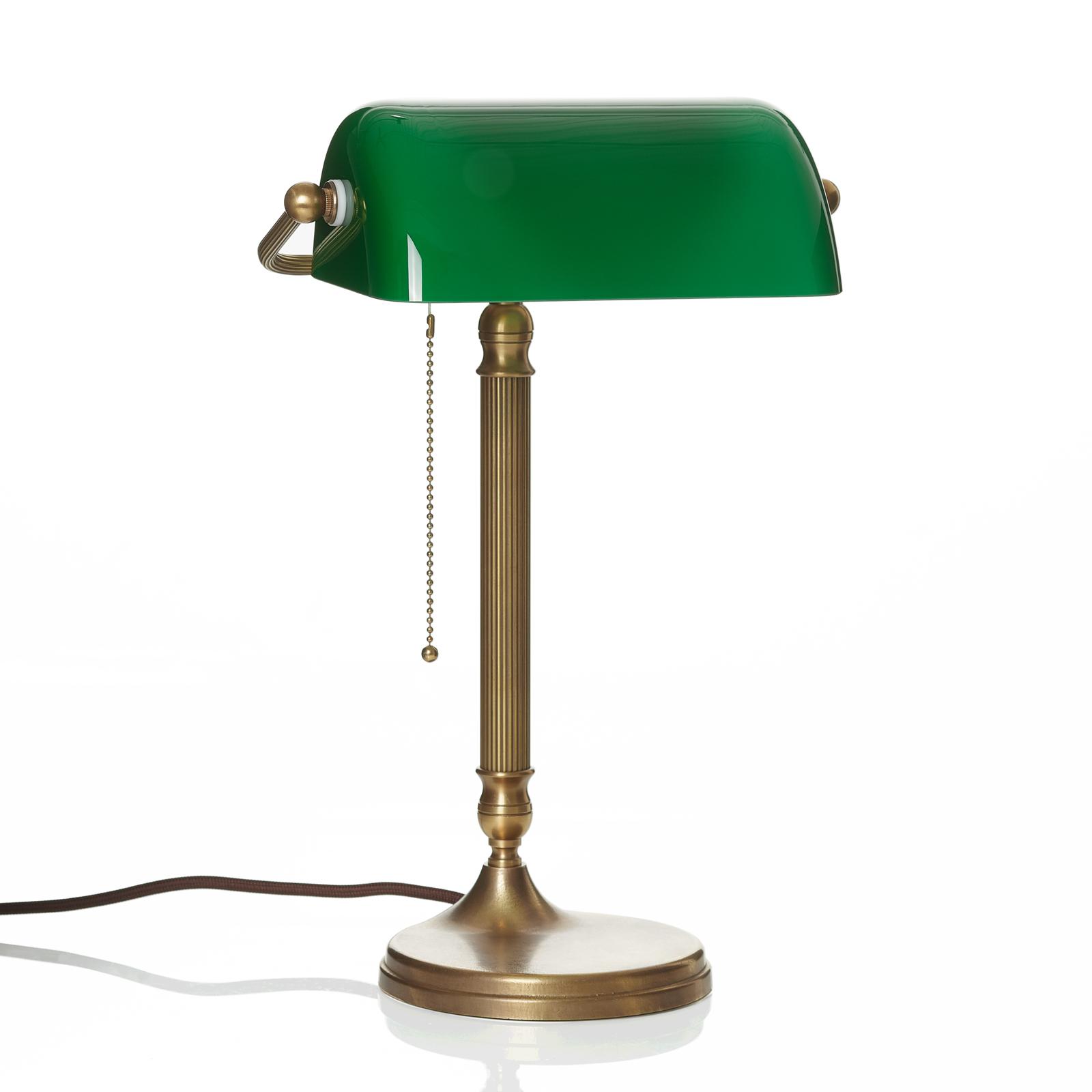 Ručně vyrobená bankéřská lampa JIVAN