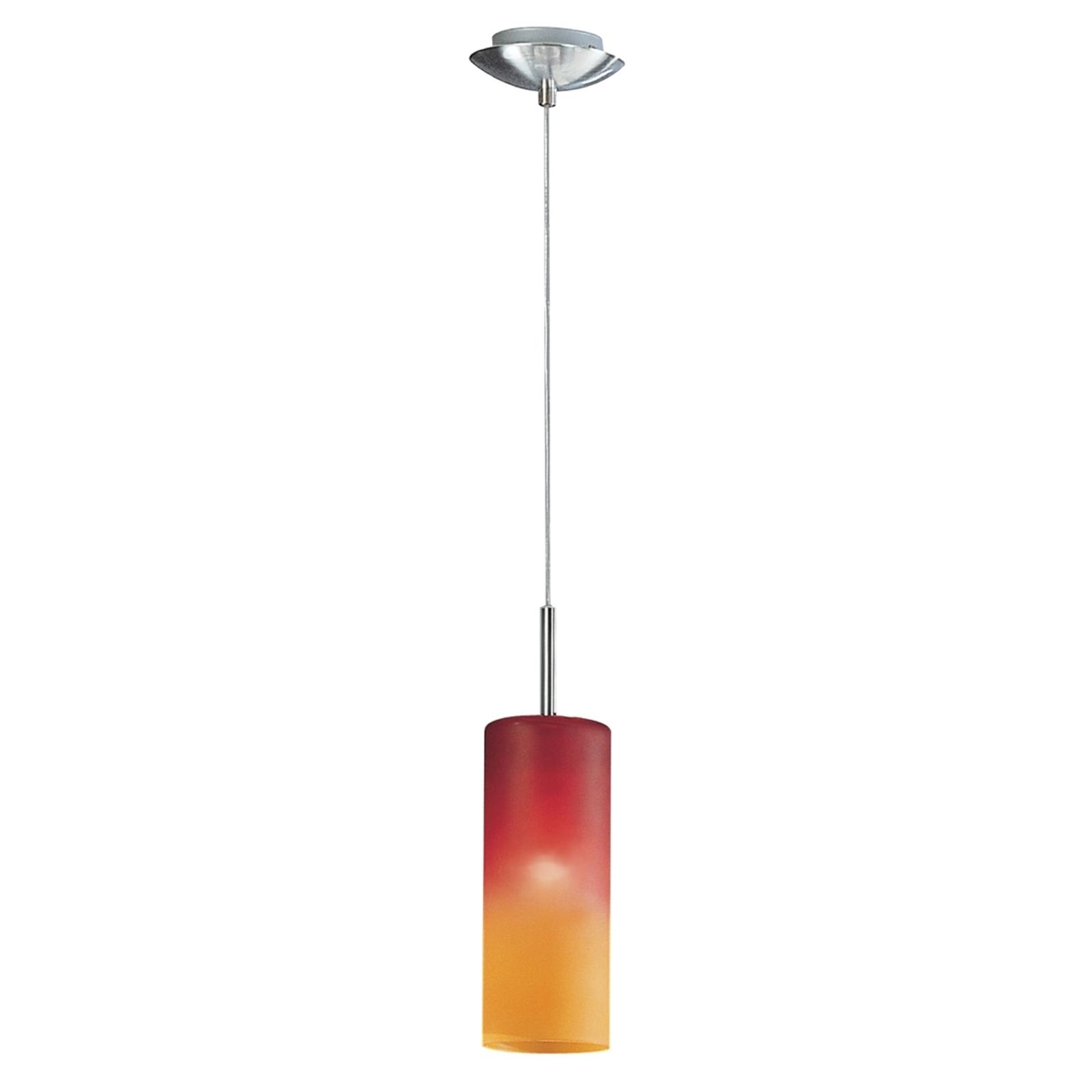 Závěsné světlo Troy v červené a oranžové