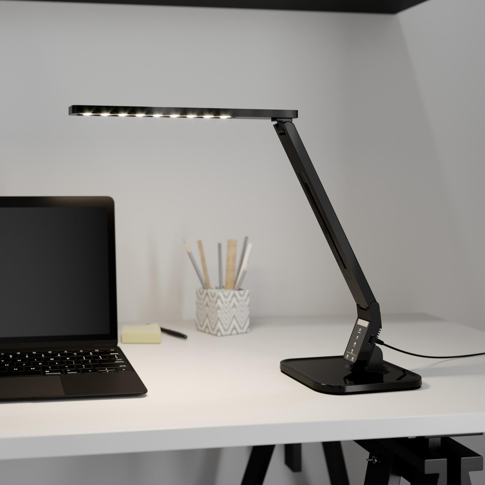 Arcchio Lianel LED lampa na psací stůl, černá
