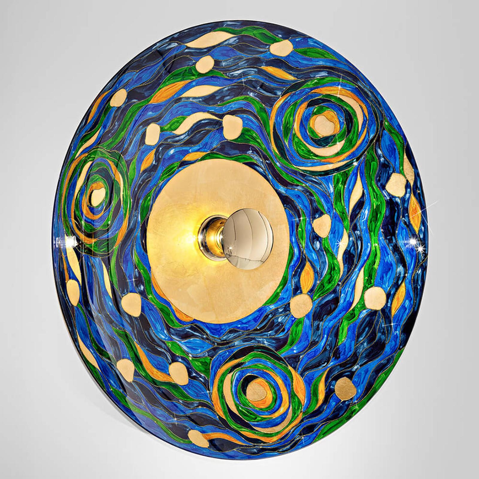 KOLARZ Aqua - blauw-groene wandlamp
