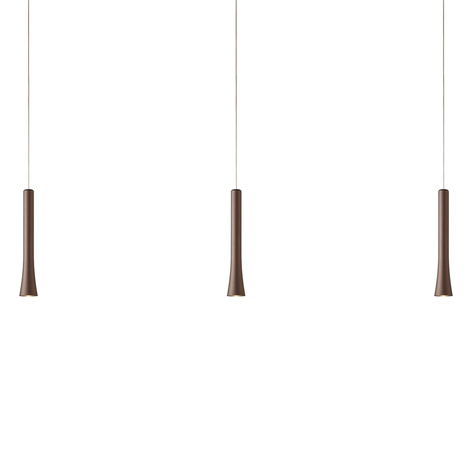 Lámpara colgante LED Rio variable, marrón
