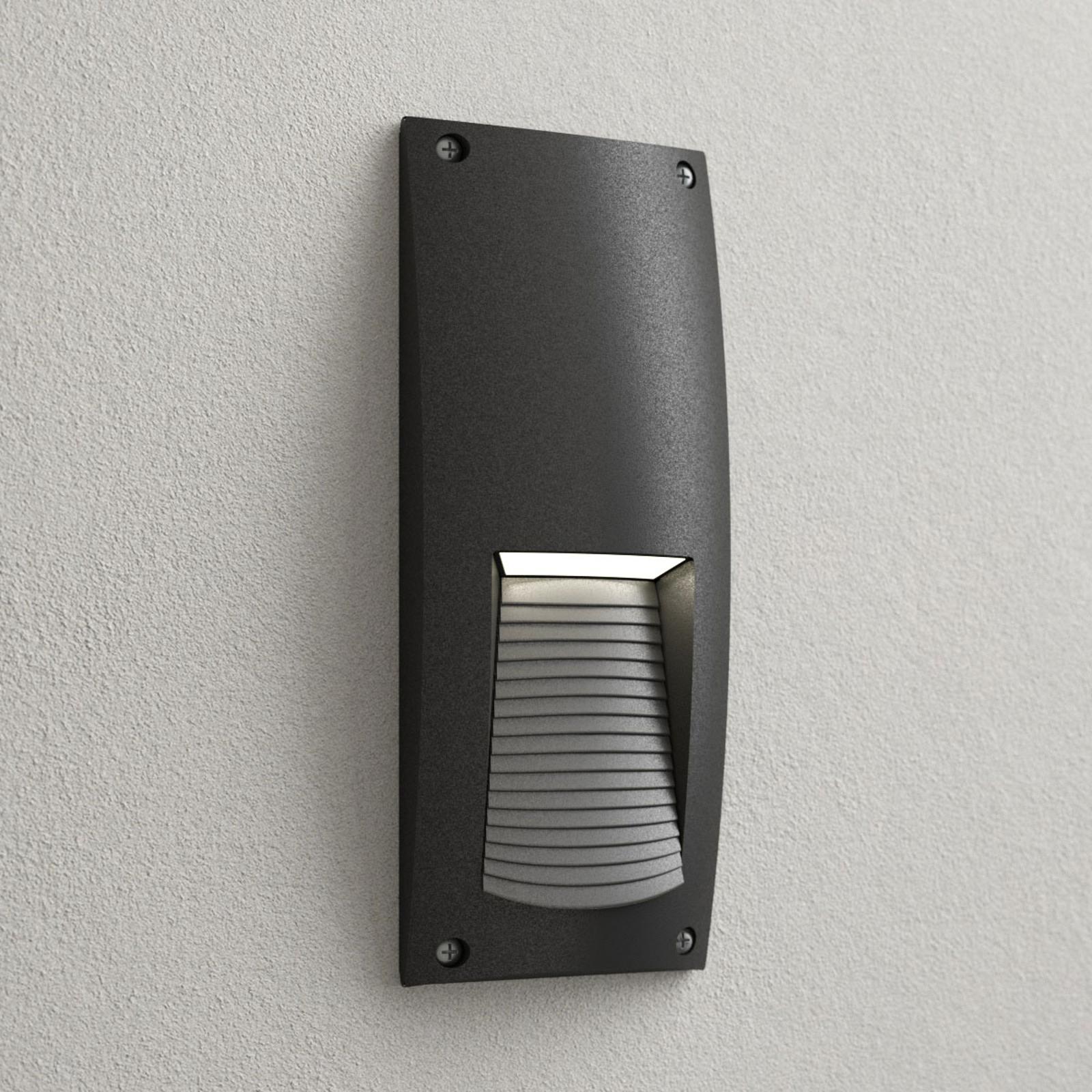 LED-innbyggingslampe Leti 300-VP svart 2x3W CCT