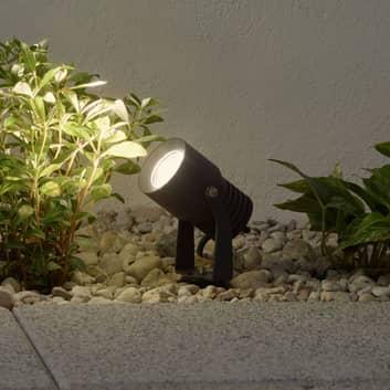 Udendørs LED-spot Jon med bevægeligt lampehoved