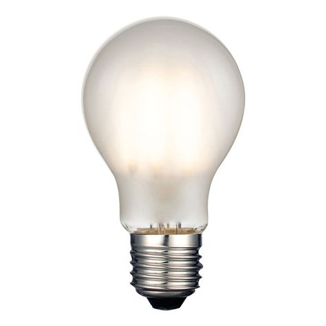 Ampoule LED E27 8 W 2 700 K mate dimmable