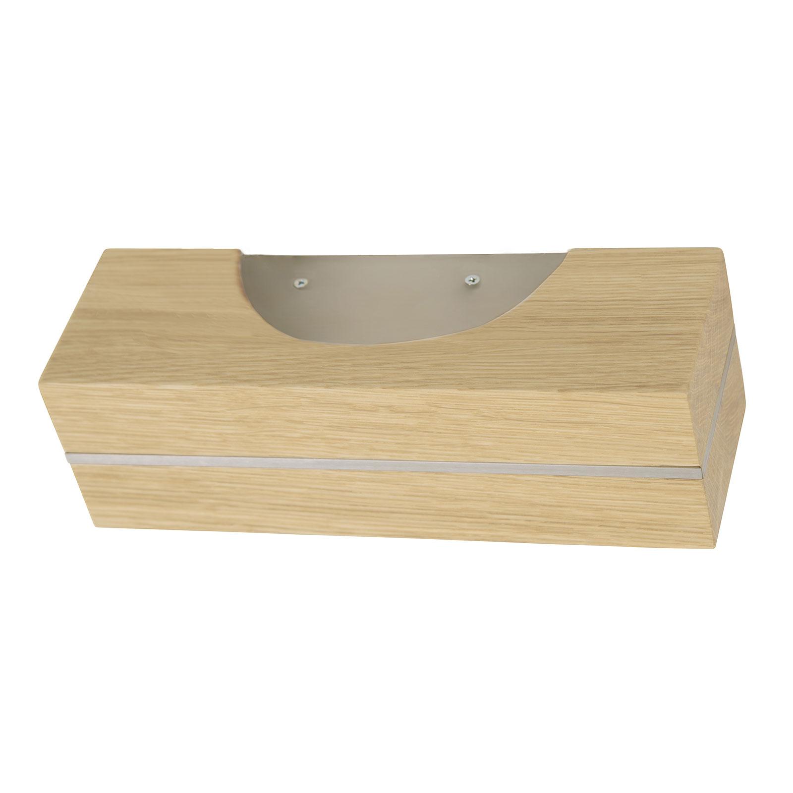 HerzBlut Dana LED-væglampe naturlig eg, nikkel