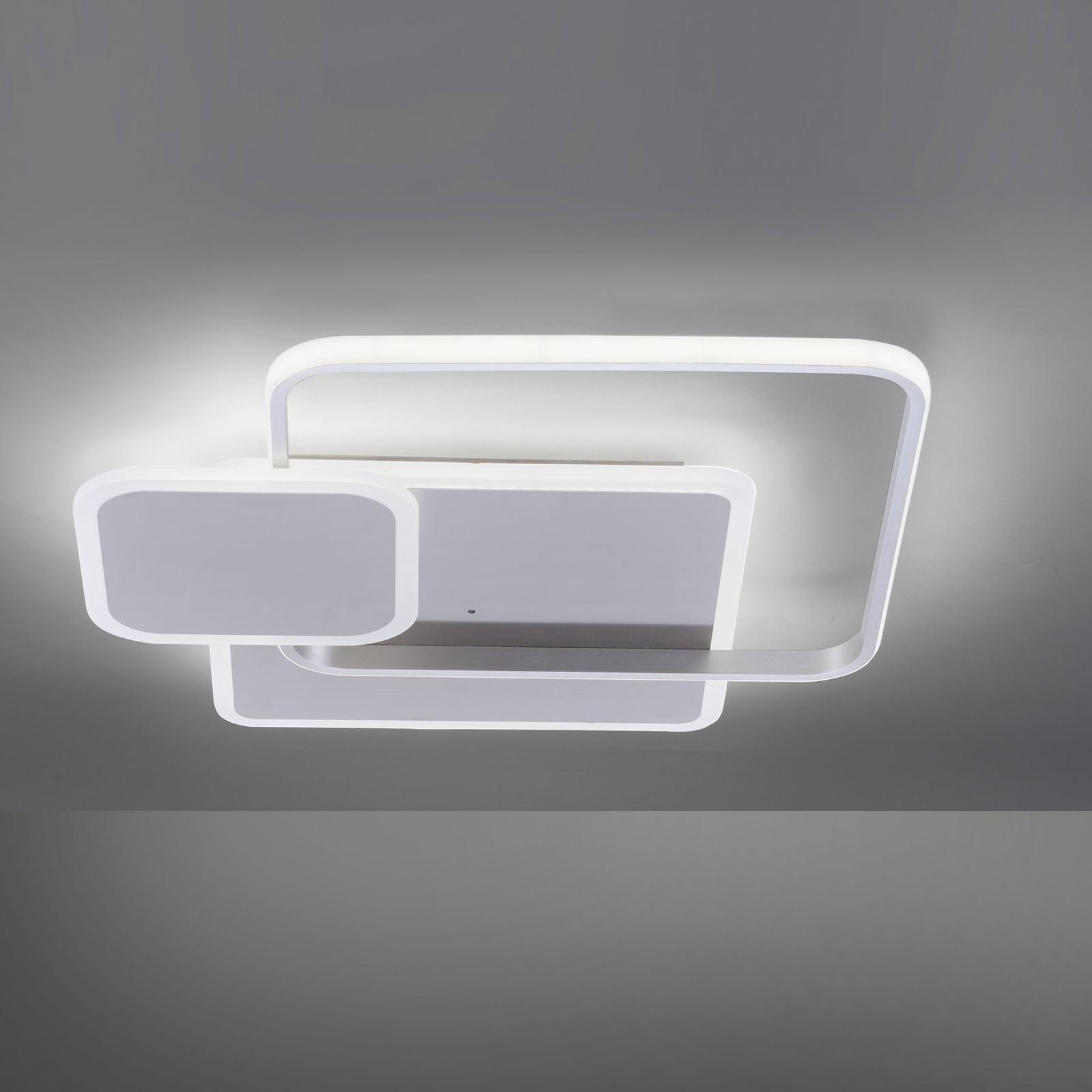 LED plafondlamp Emilio m.afstandsbediening, hoekig