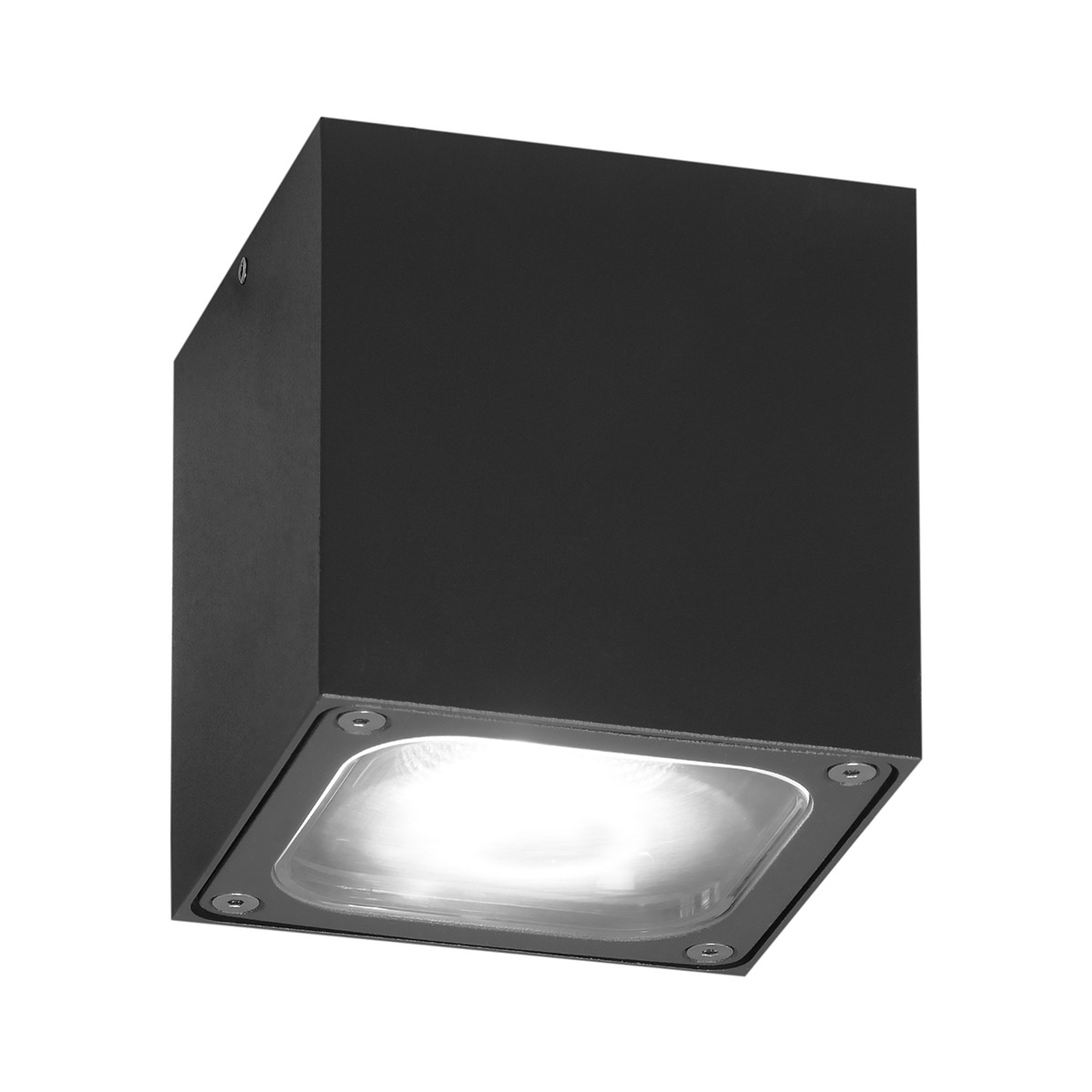 Lampa sufitowa LED Cesena, kostka, antracytowa