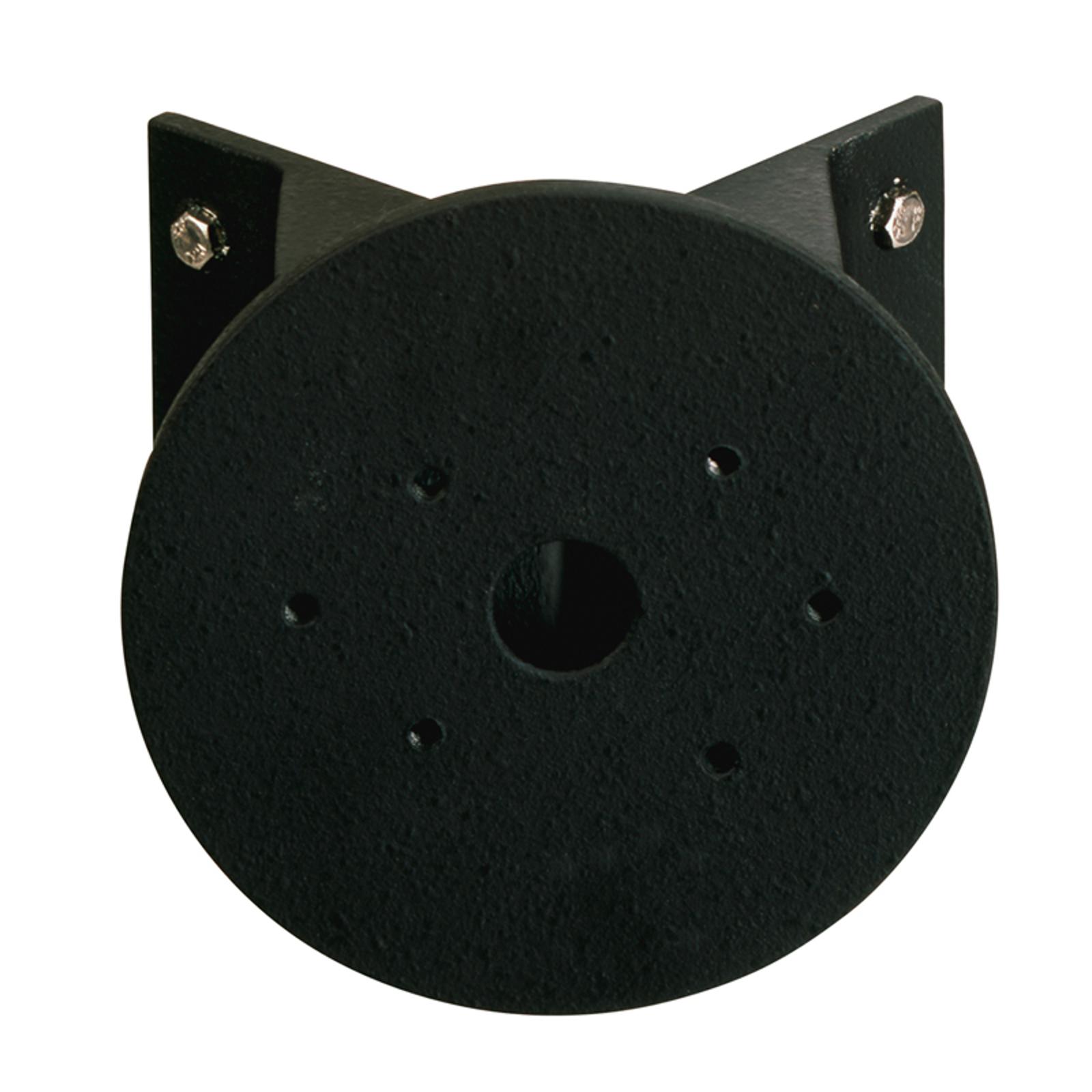 Fissaggio angolare rotondo nero applique esterni