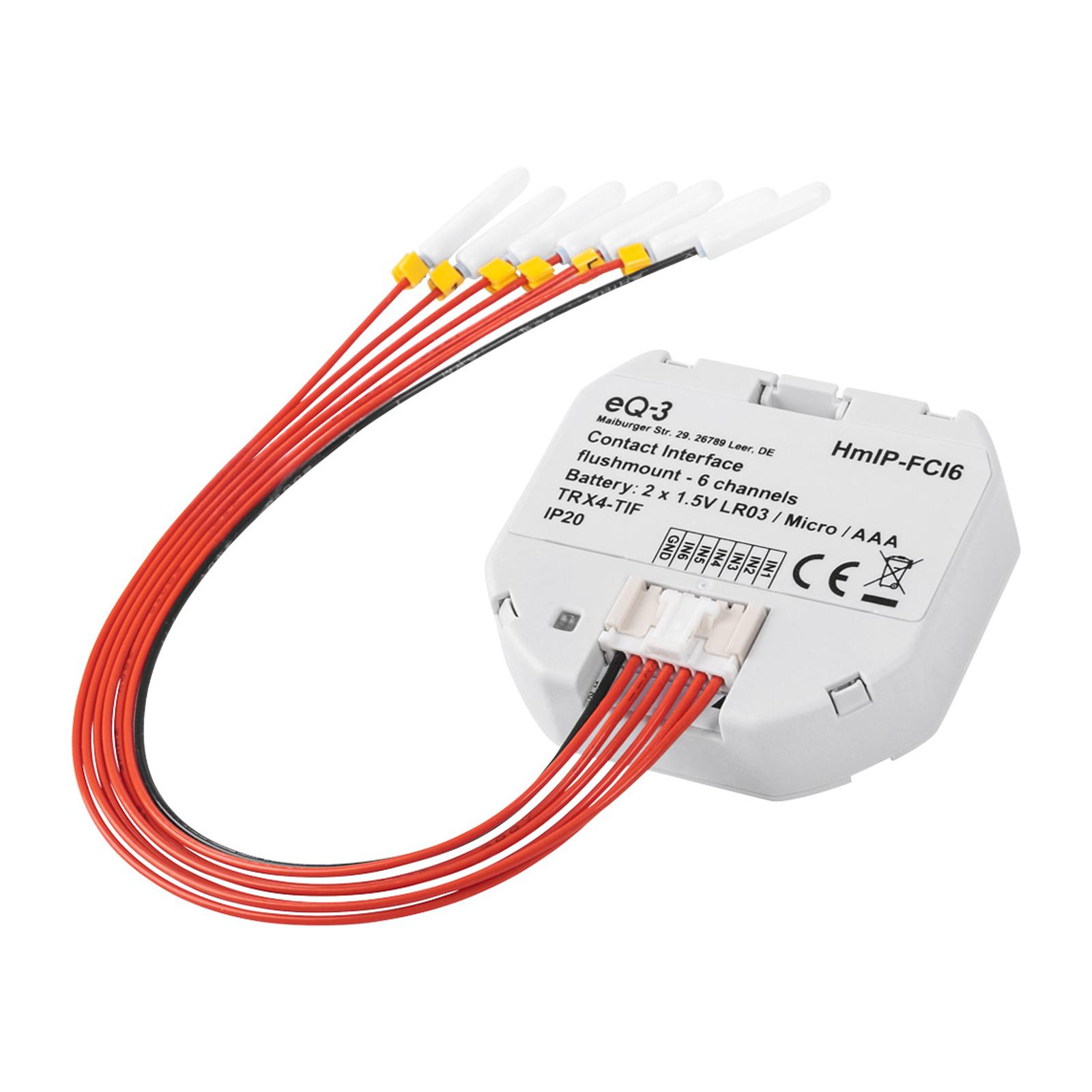 Homematic IP-contact-interface inbouw 6-voudig