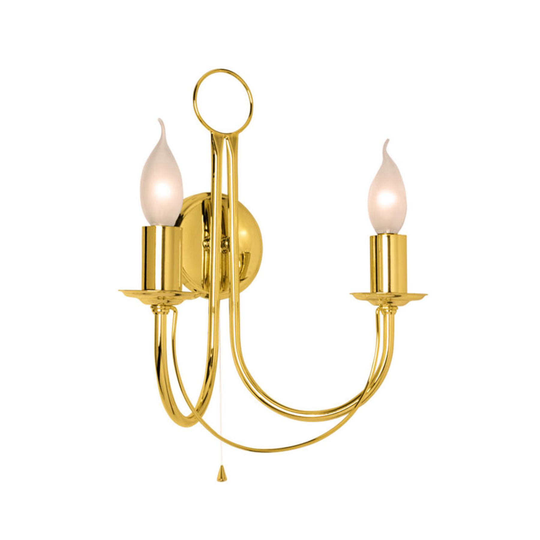 Wandlamp Retro, 2-lamps, goud