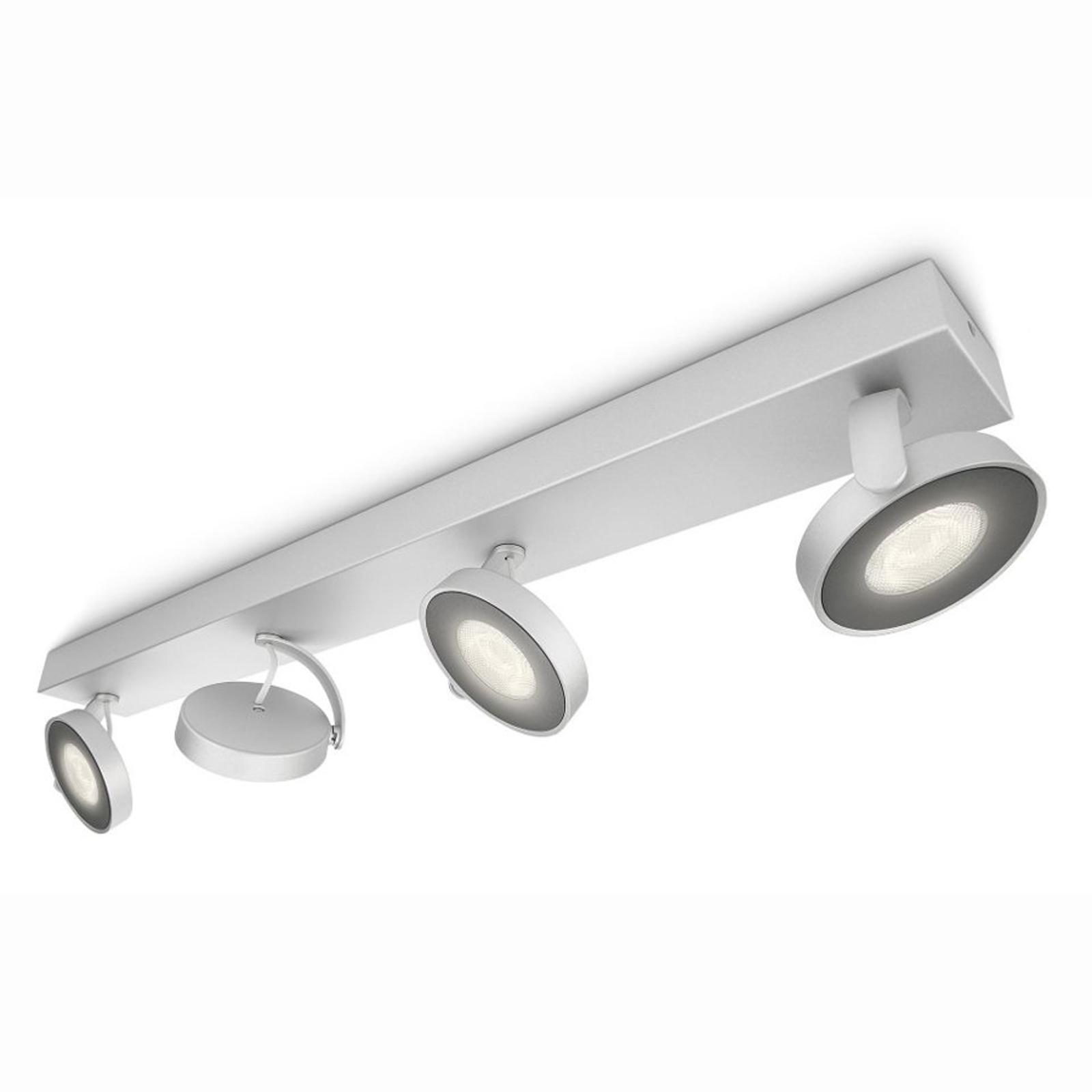Plafonnier LED Clockwork de couleur aluminium