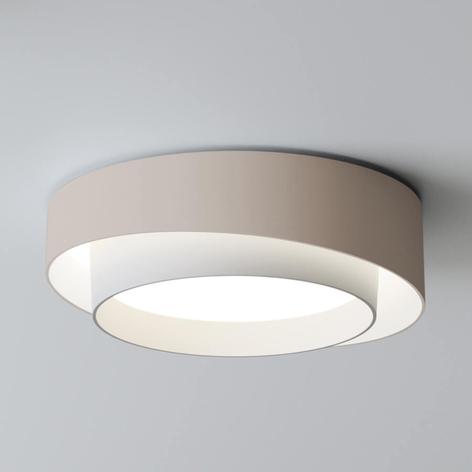 Vibia Centric - silné LED stropní svítidlo krémové