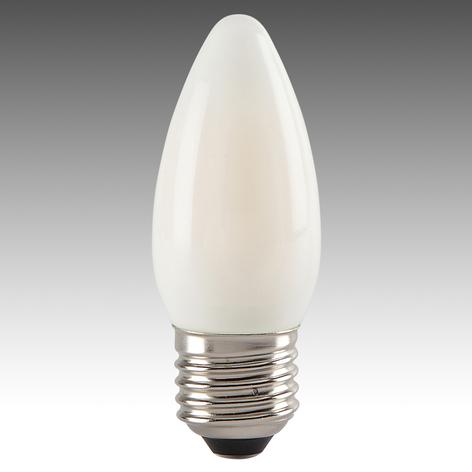 E27 4W 827 LED sviečková žiarovka satinovaná