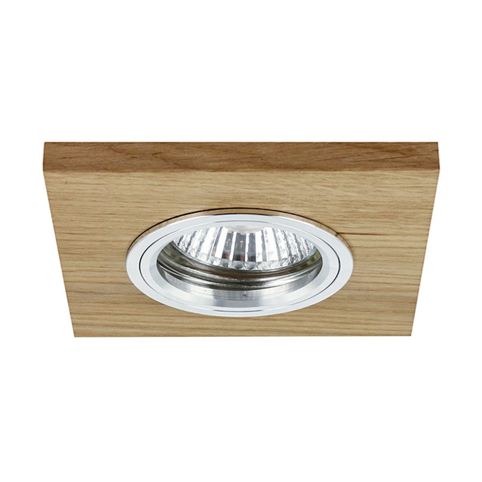 LED-Deckeneinbauleuchte Vitar, eiche geölt