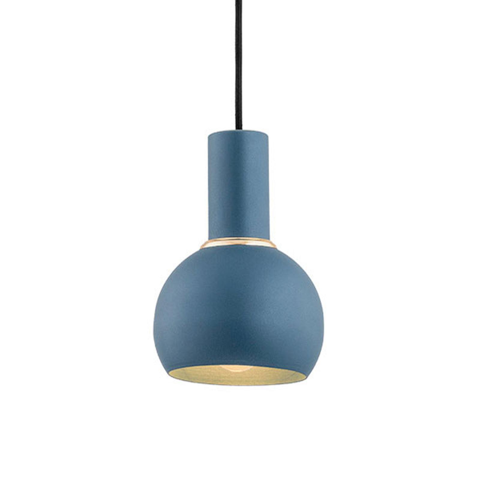 Závěsné světlo Selma, jeden zdroj, modré Ø 14 cm