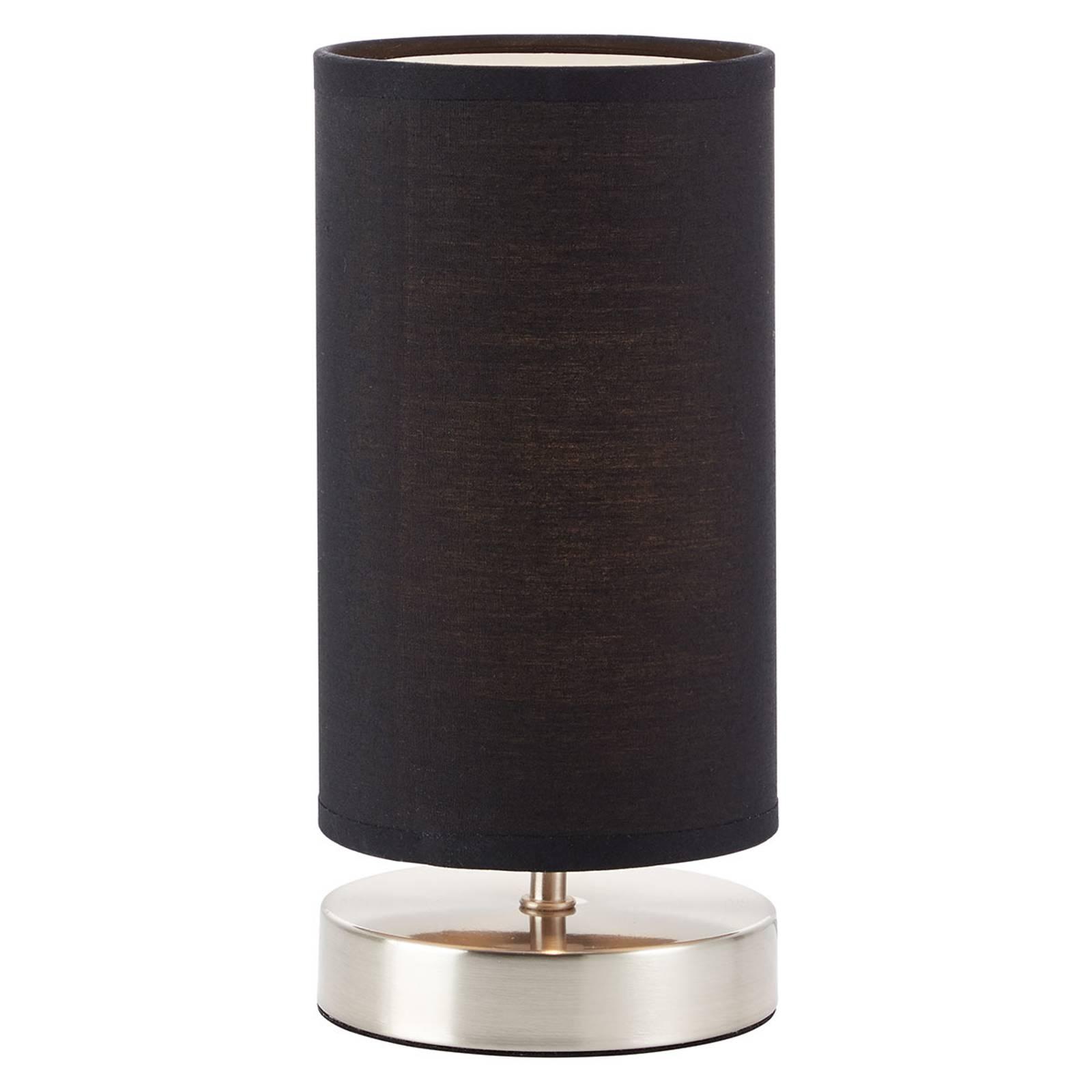 Clarie tafellamp met zwarte textielen kap