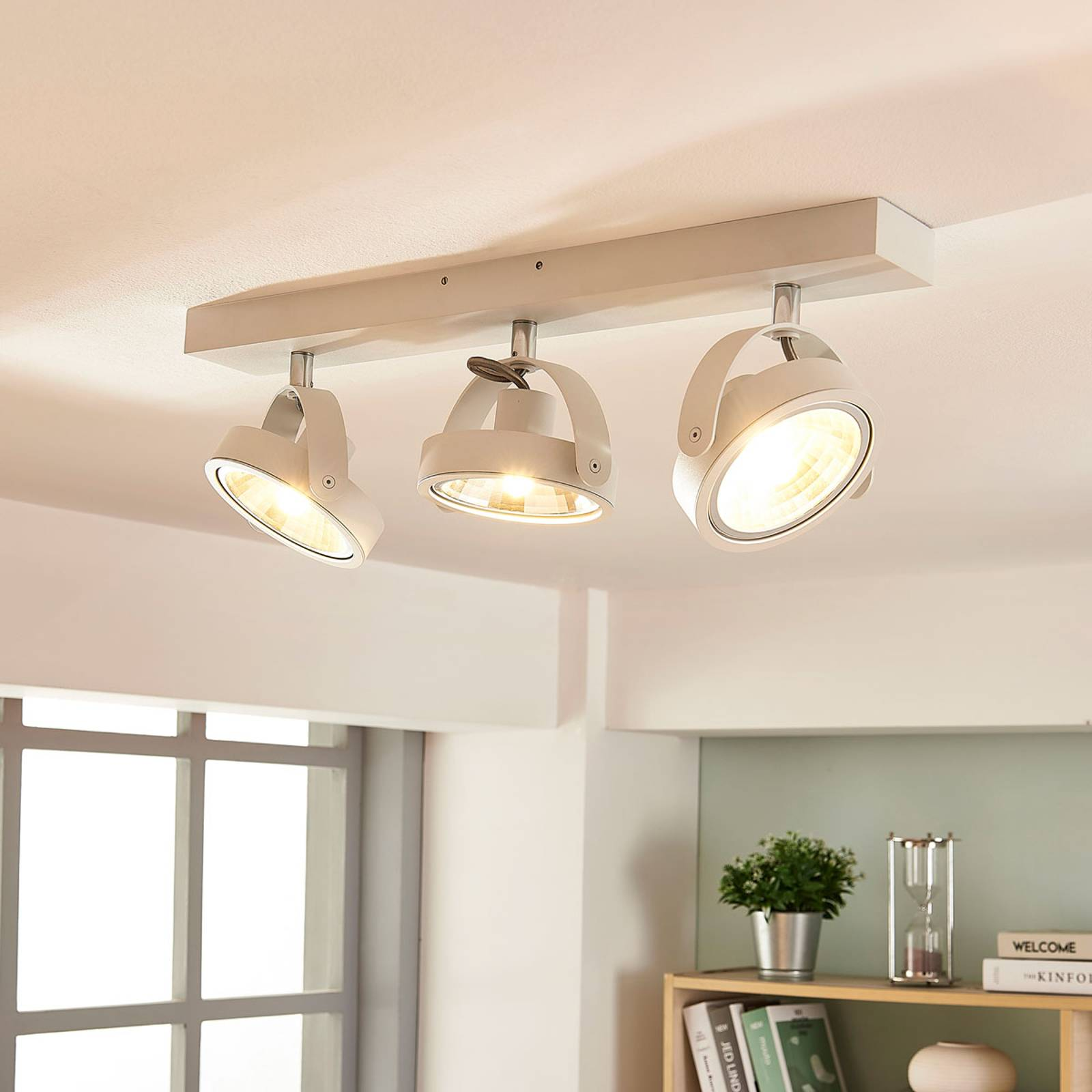 Moderne LED plafondlamp Lieven in wit