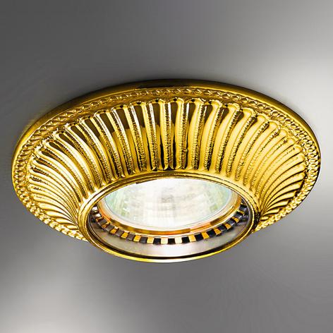 Attraktiv indbygget lampe MILORD i guld
