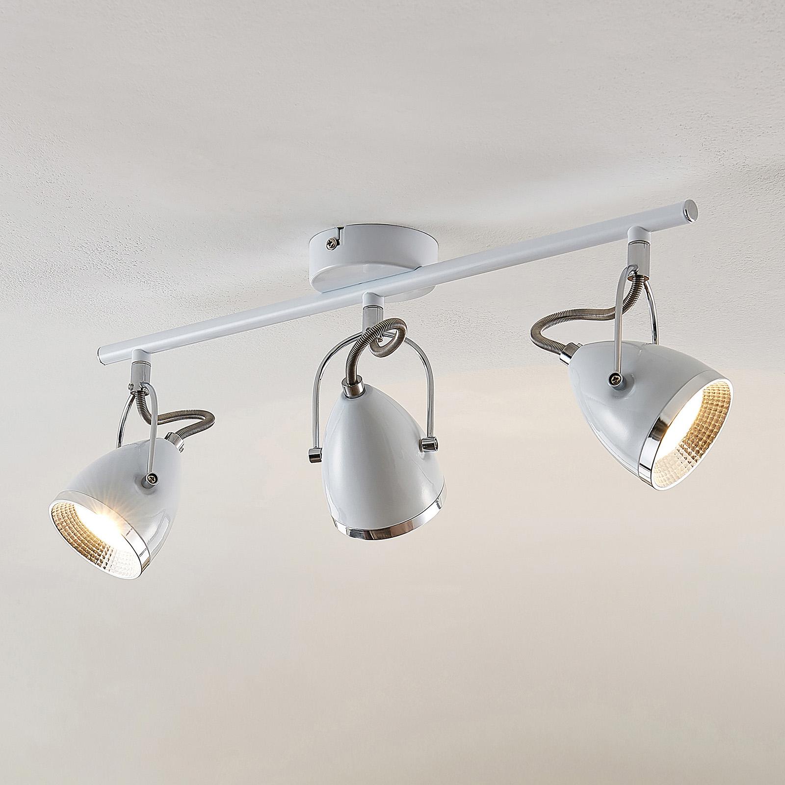 Lindby Jadon LED-takspot hvit 2 lyskilder lang