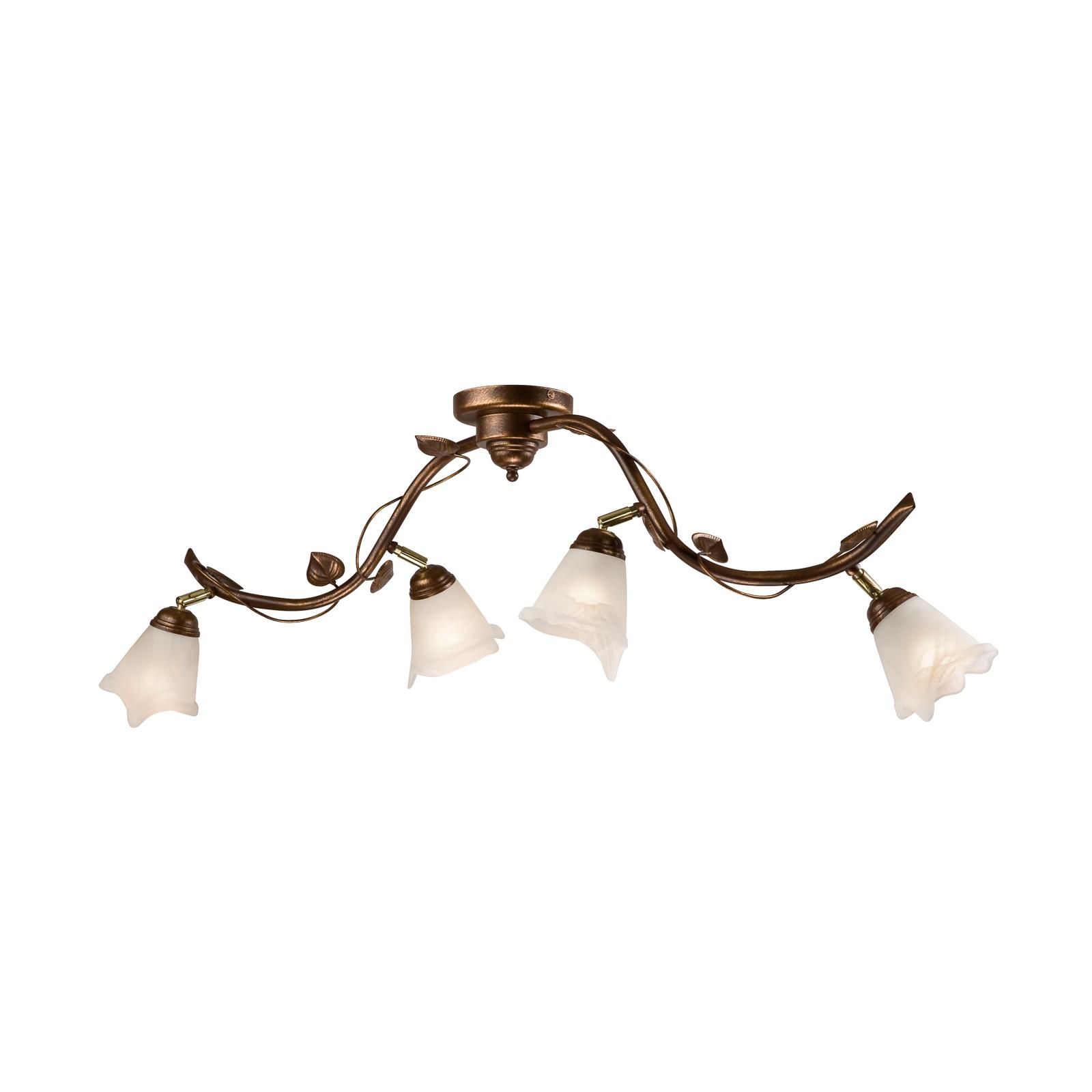 Taklampe Siena florentinstil, 4 lyskilder