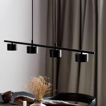 Lámpara colgante LED Clyde, 4 luces, recta