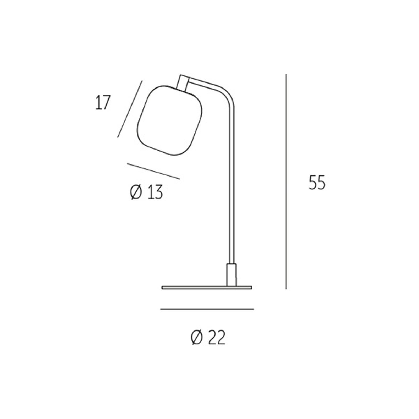 Casablanca Murea tafellamp, frame gebogen