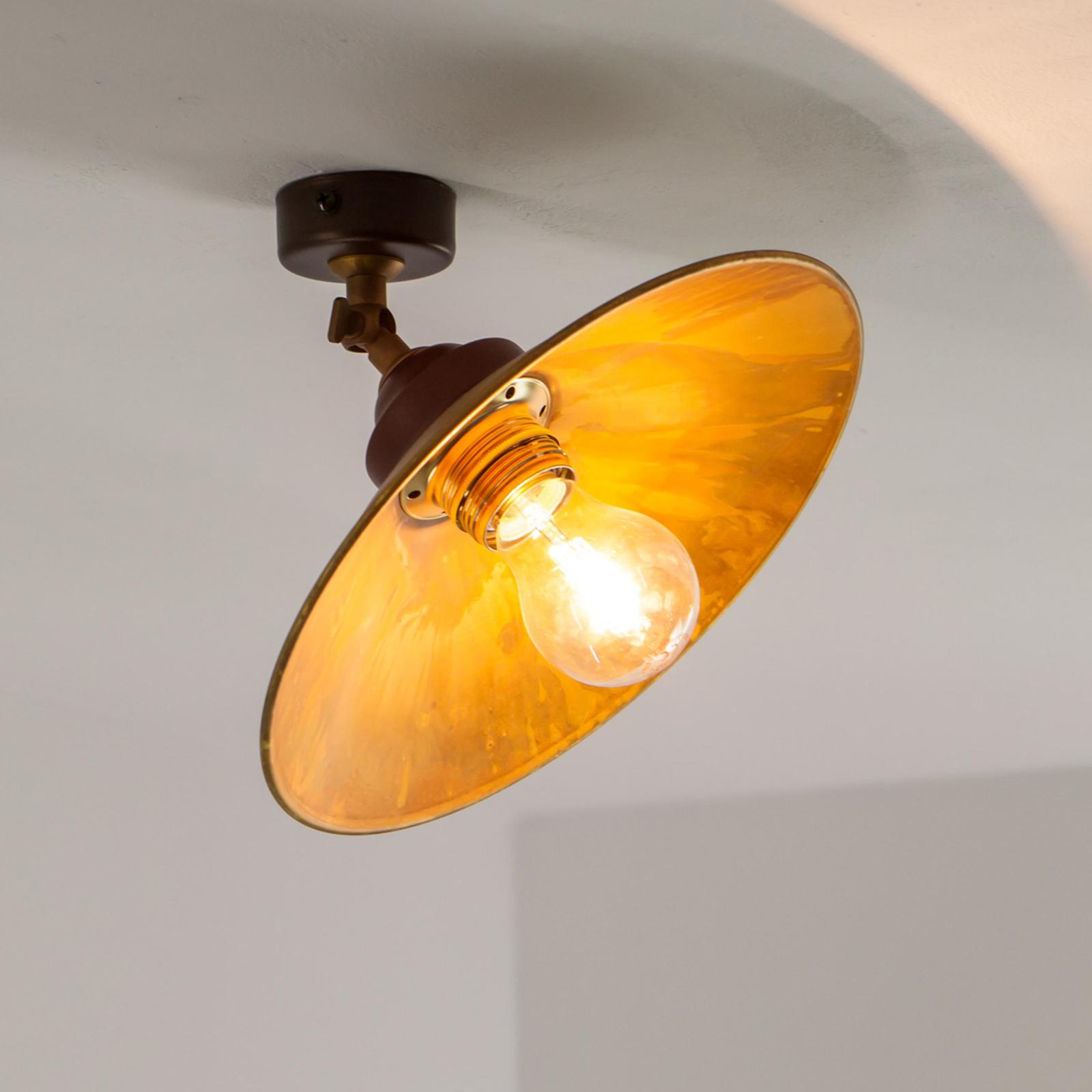 Plafondlamp RUA van geoxideerd messing