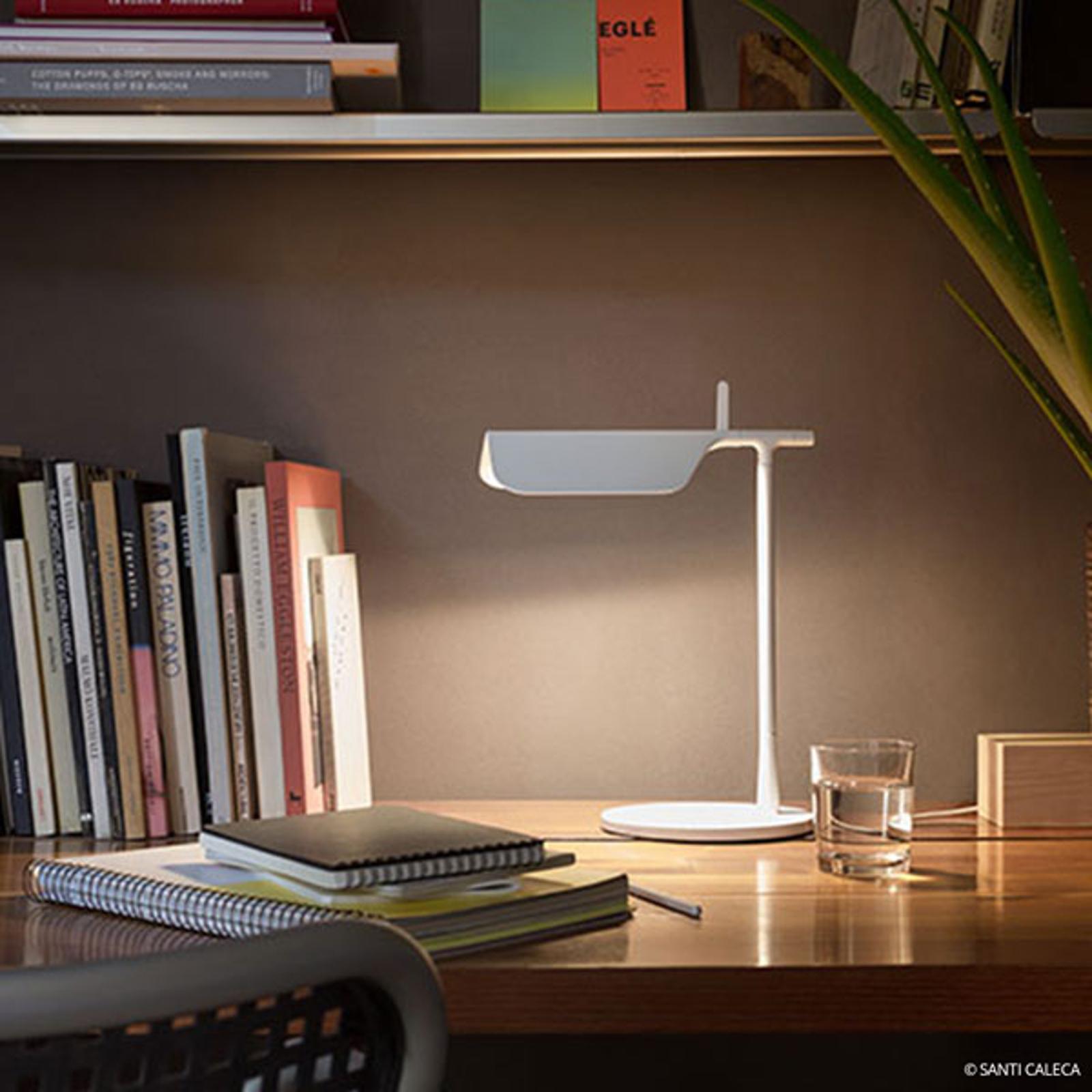 Innovativ LED-bordslampa TAB T, vit