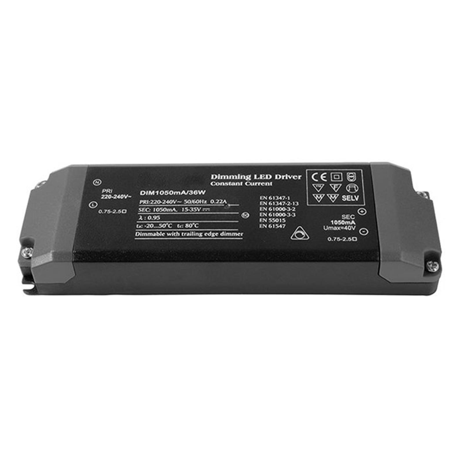 Konstantstrømforsyning LED, 1050 mA, 40 W, dimbar