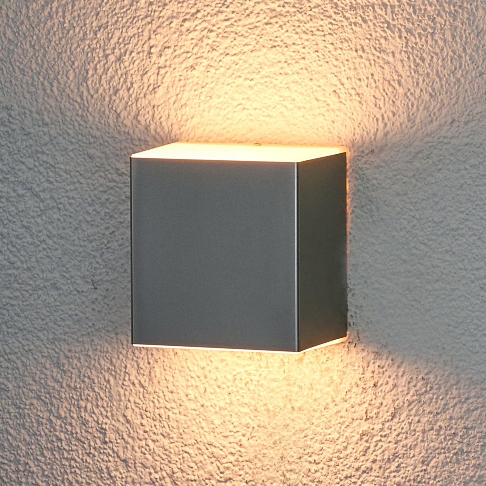 Philips Macaw LED-udendørsvæglampe, rustfrit stål