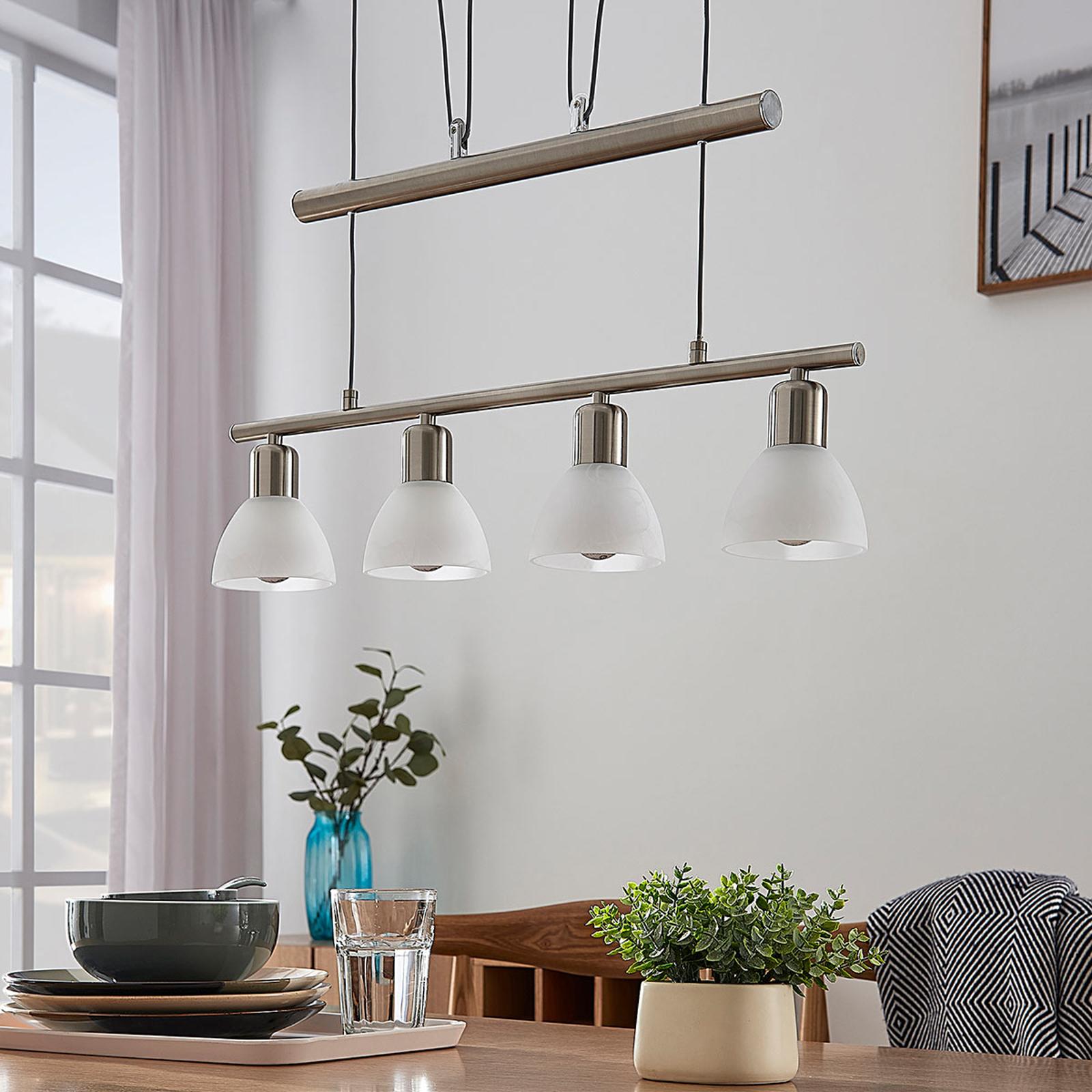 Høydejusterbar LED-pendellampe Gwendolin, bjelke