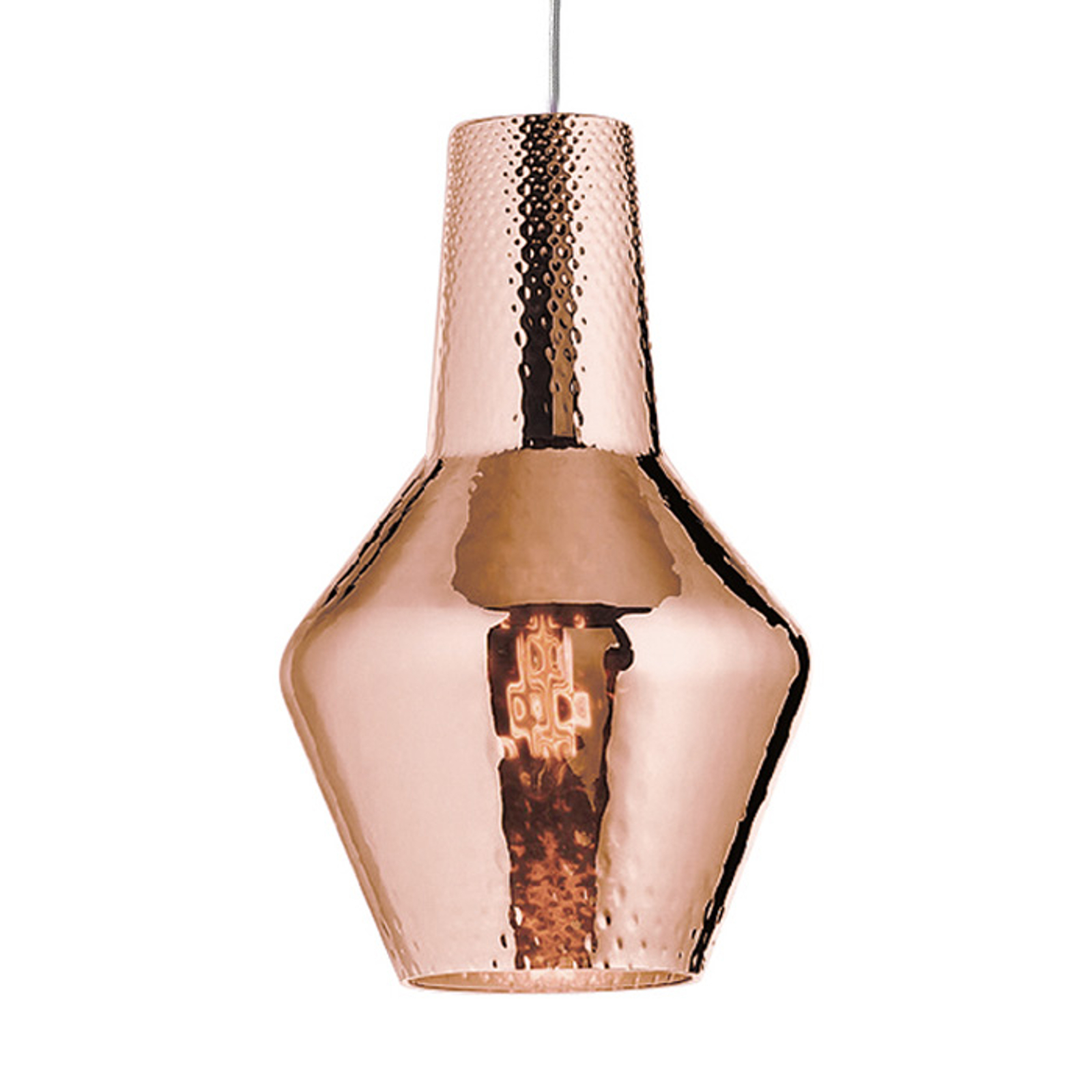 Lampa wisząca Romeo 130cm, różowe złoto metalik