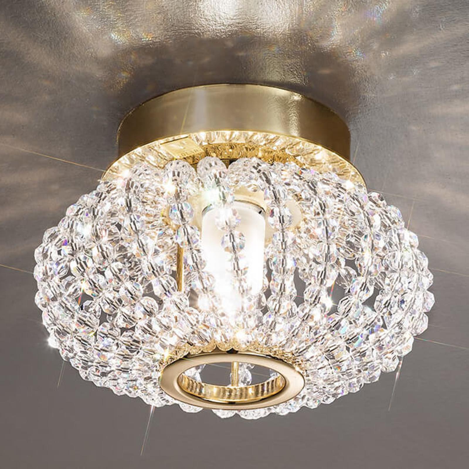 CARLA krystall-taklampe med gull