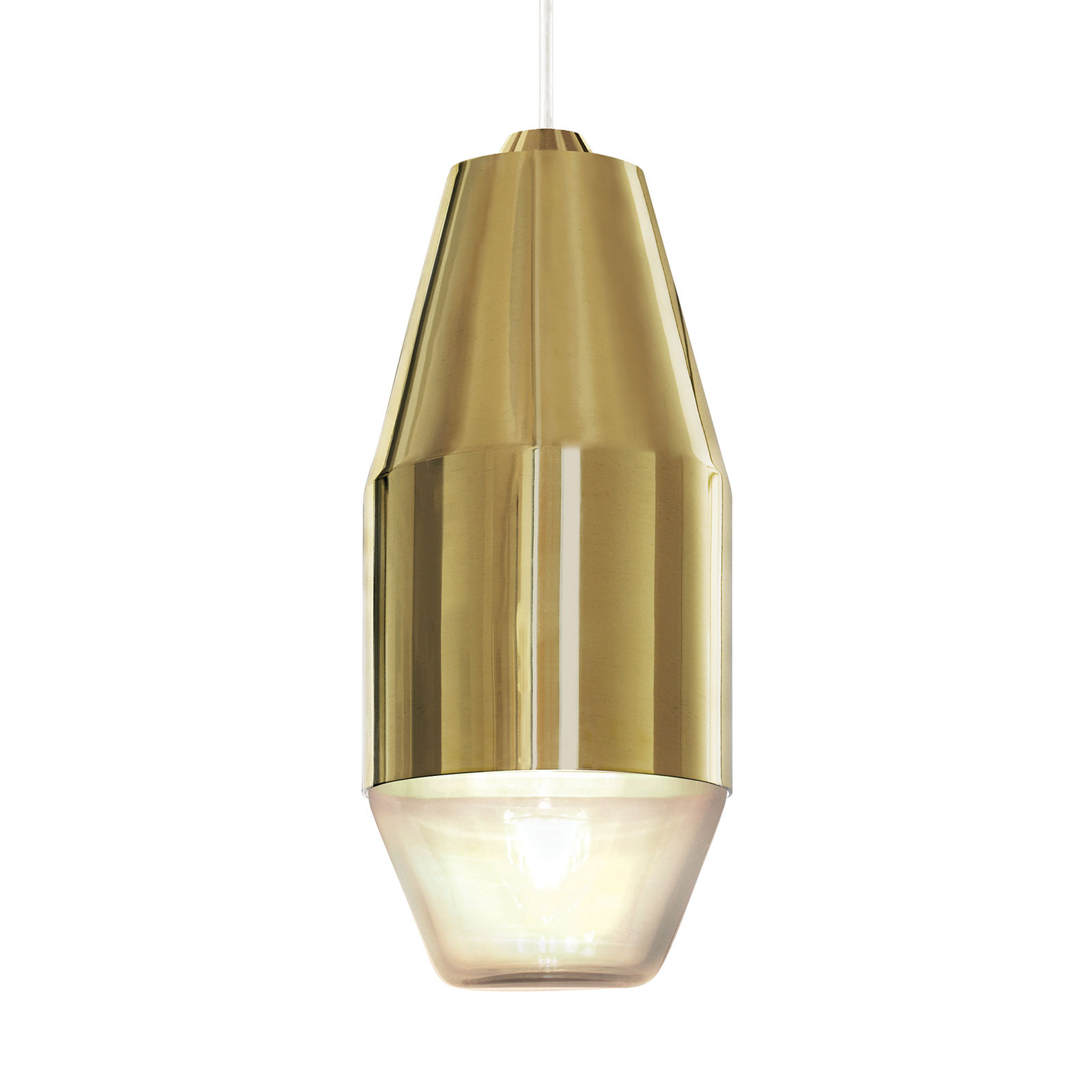 Kundalini Yuma hængelampe i poleret messing